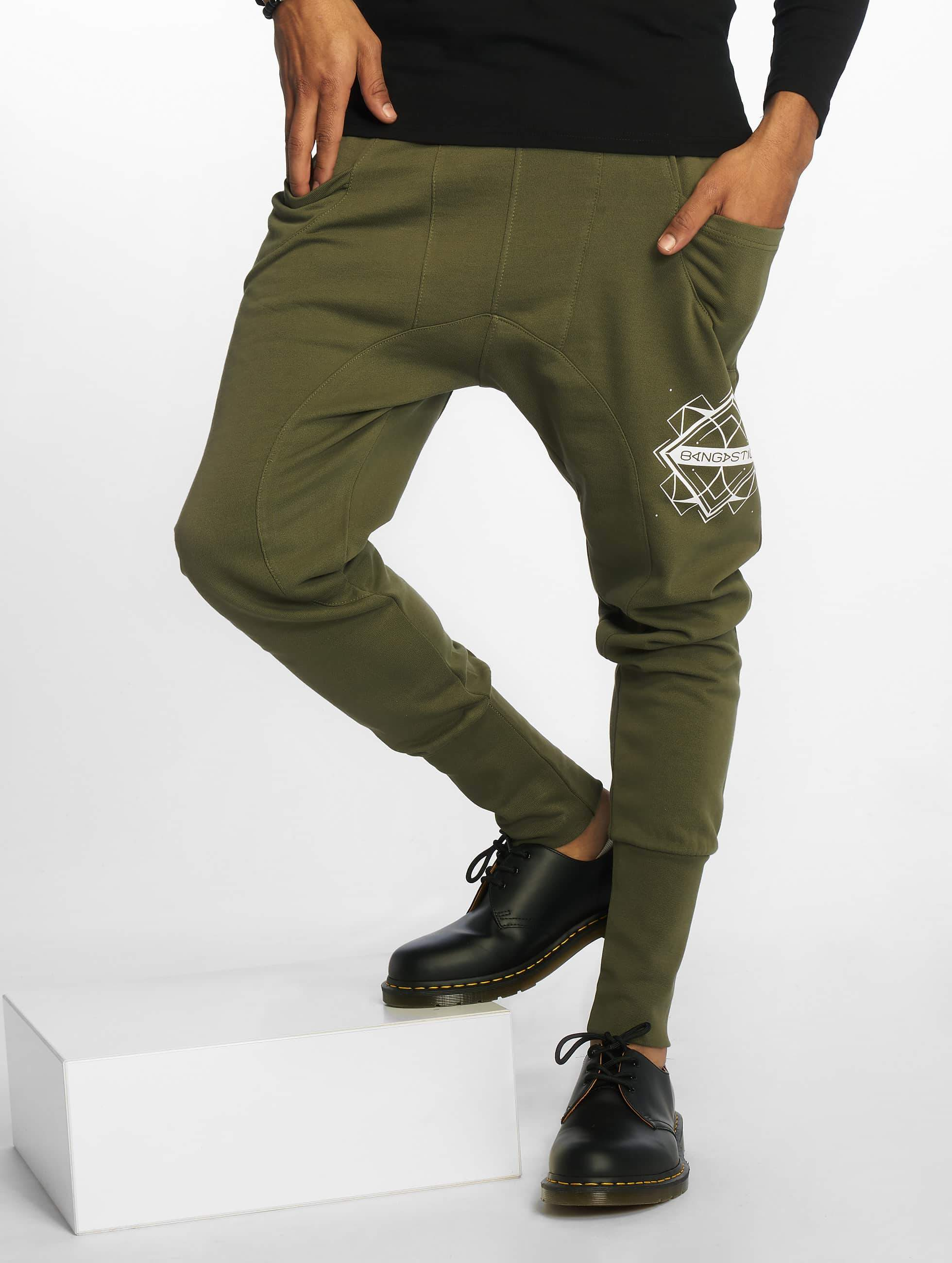 Bangastic / Sweat Pant Birds in olive XL