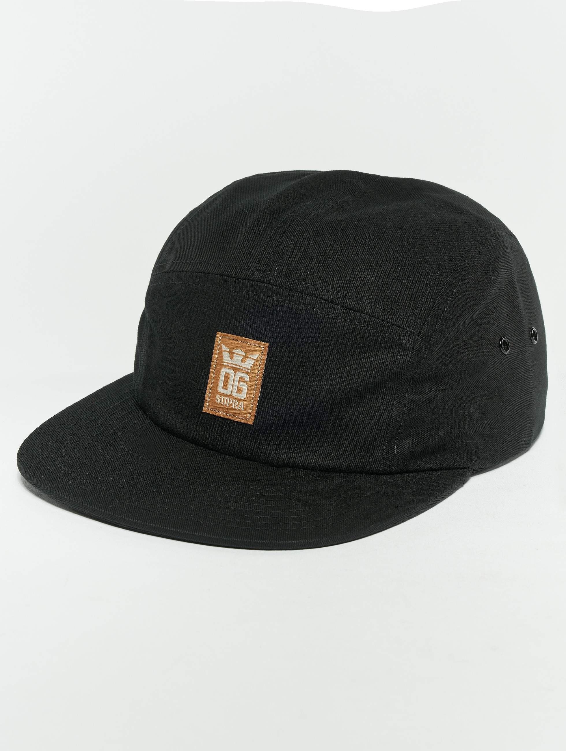 Supra   Og Crown 5 Panel Hat Snapback Cap noir Homme Casquette 5 panel