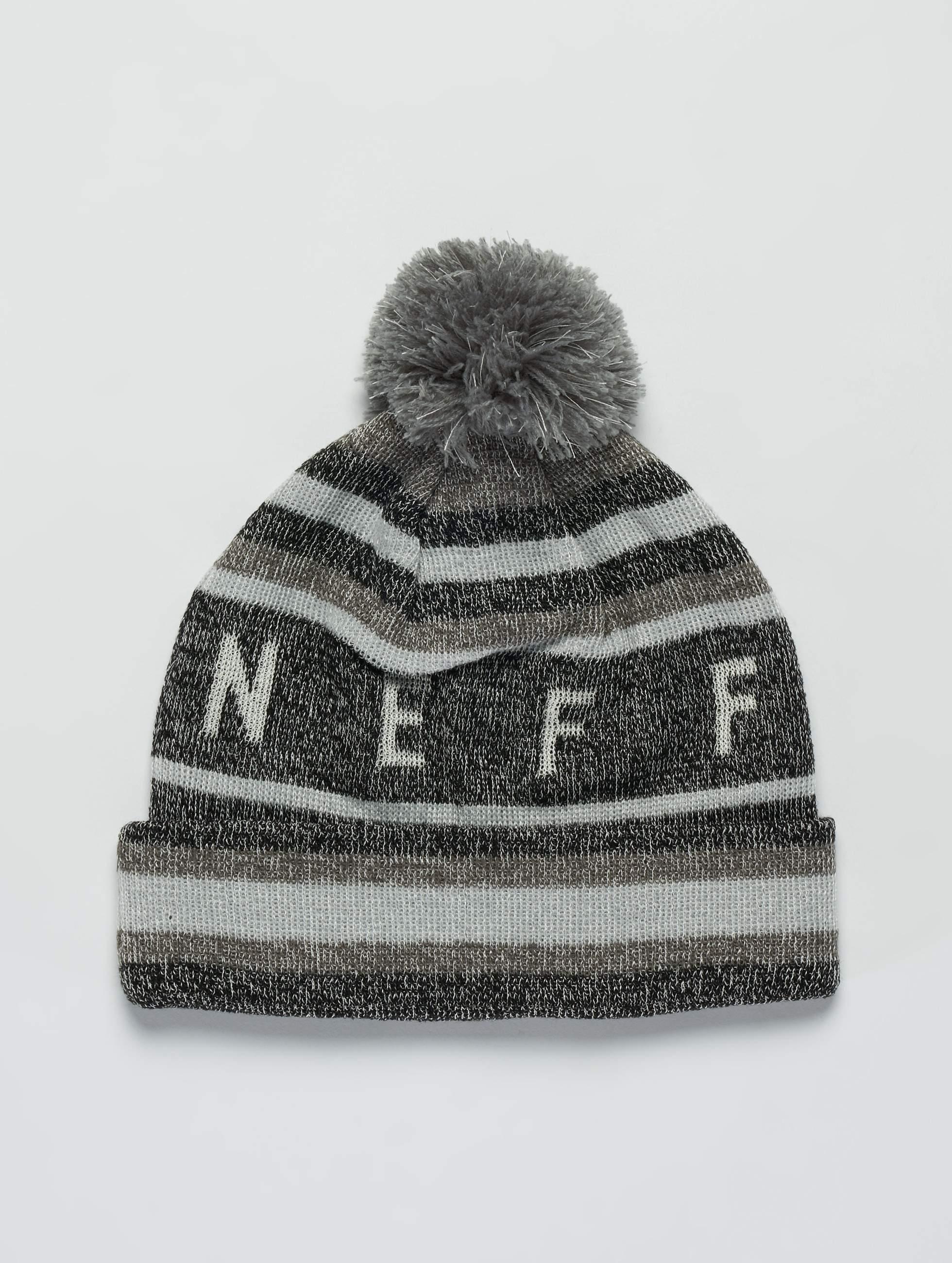 NEFF   Nightly Tailgate noir Homme,Femme Bonnet hiver