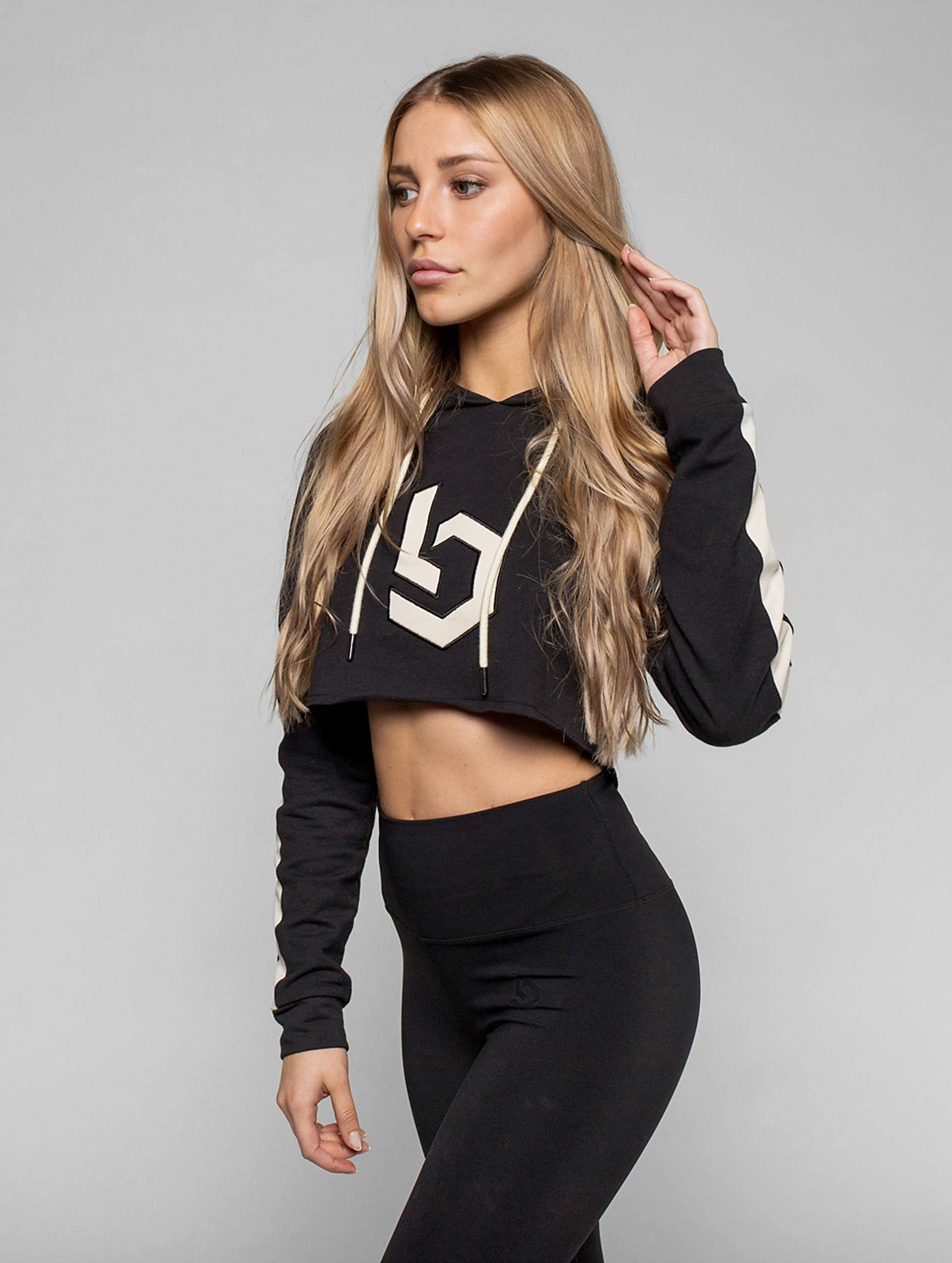 Beyond Limits | Raw Cut  noir Femme Sweats capuche de Sport