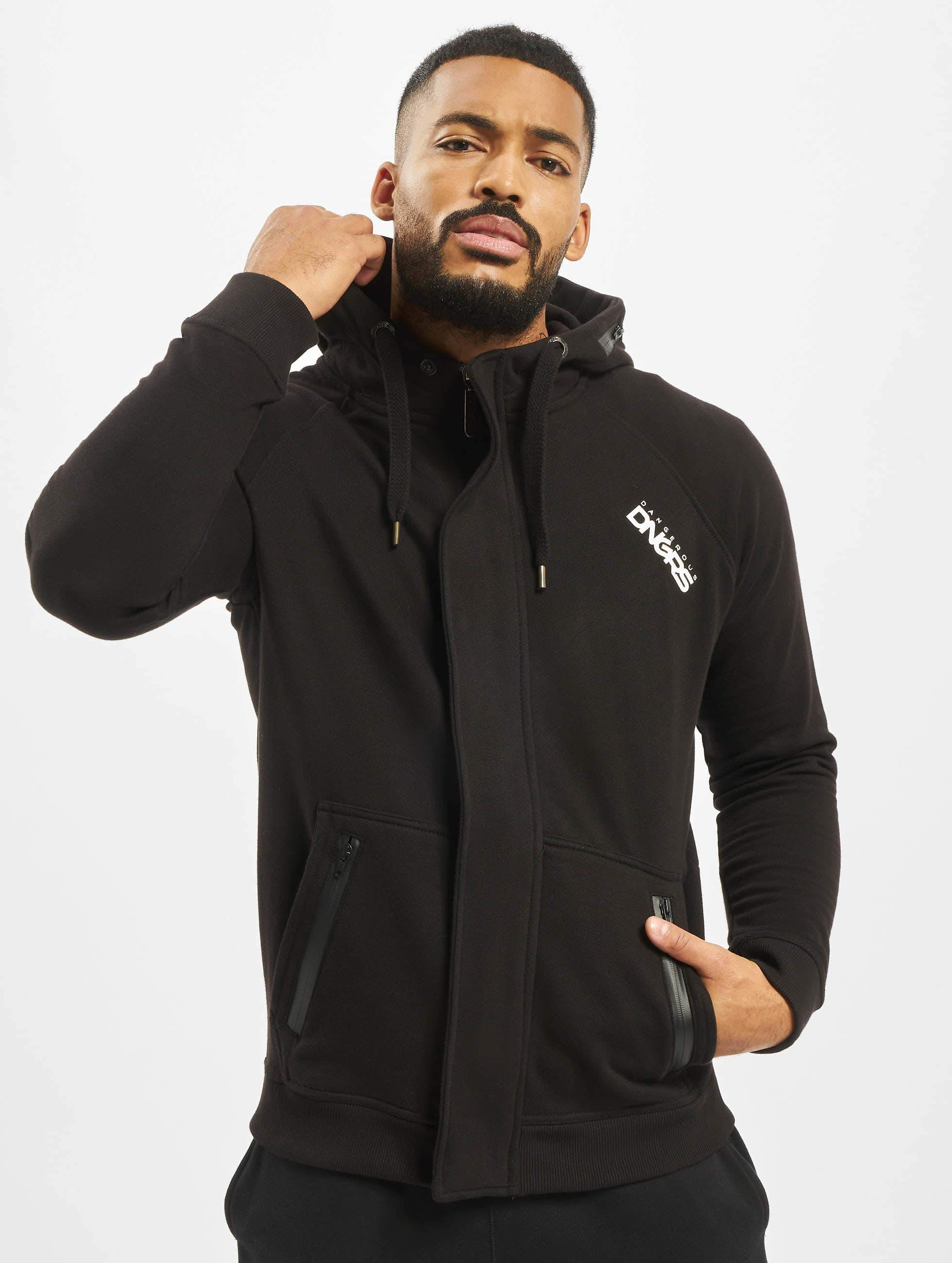 Dangerous DNGRS / Zip Hoodie Halil in black 5XL