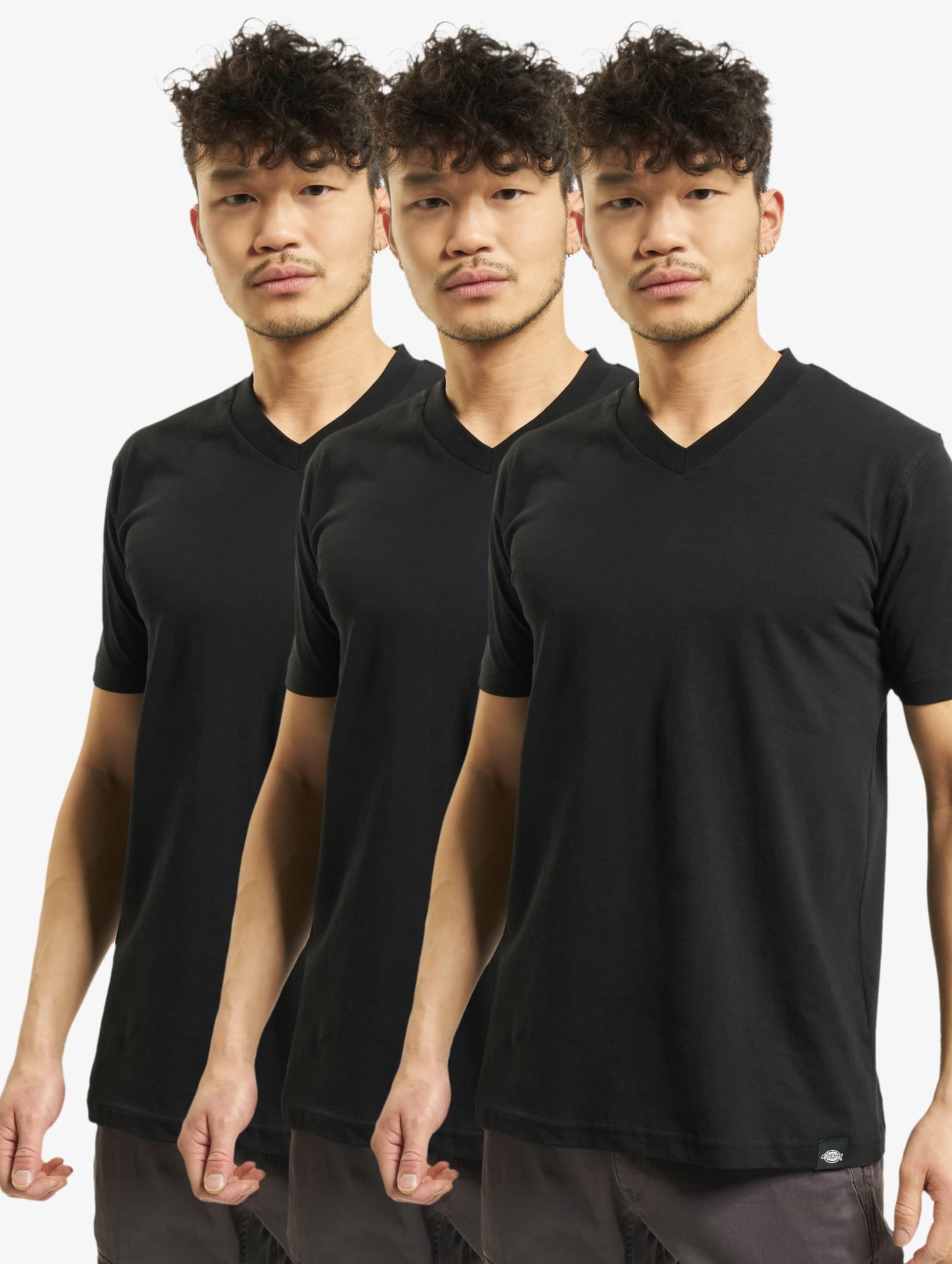 Dickies Männer T-Shirt V-Neck 3er-Pack in schwarz