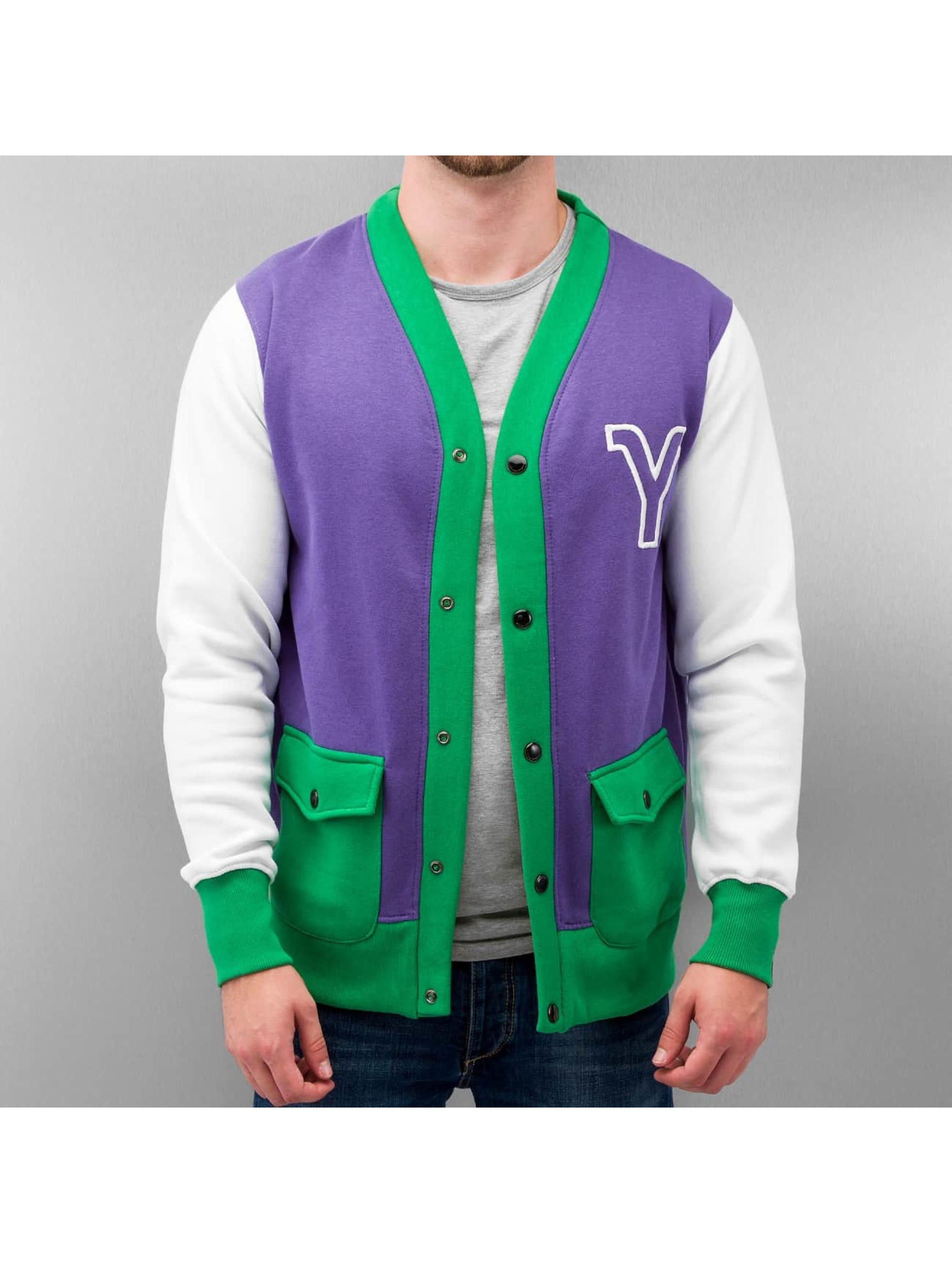 Yezz Männer College Jacke Manana in violet