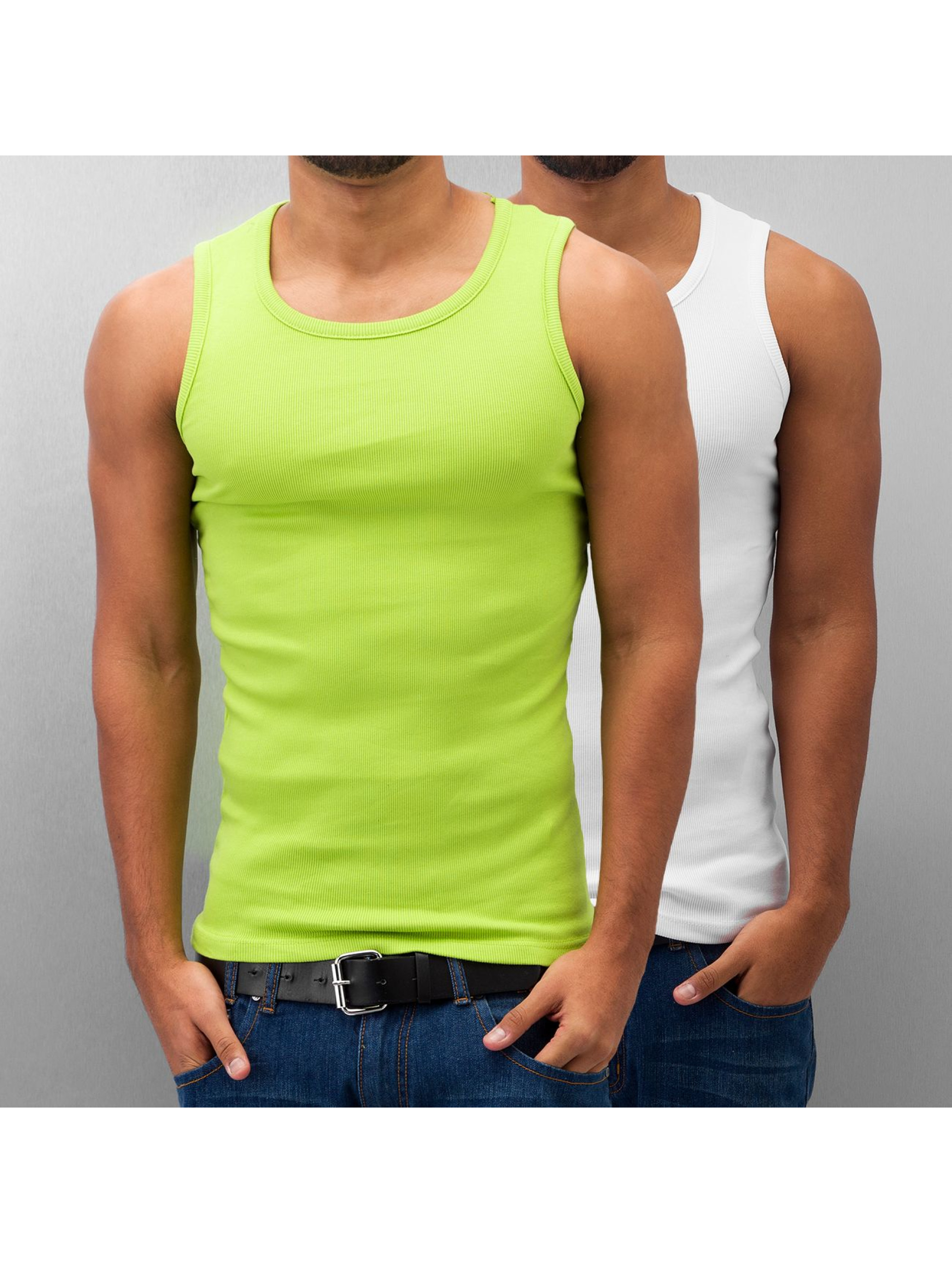 Dangerous DNGRS Männer Tank Tops Double Pack in grün