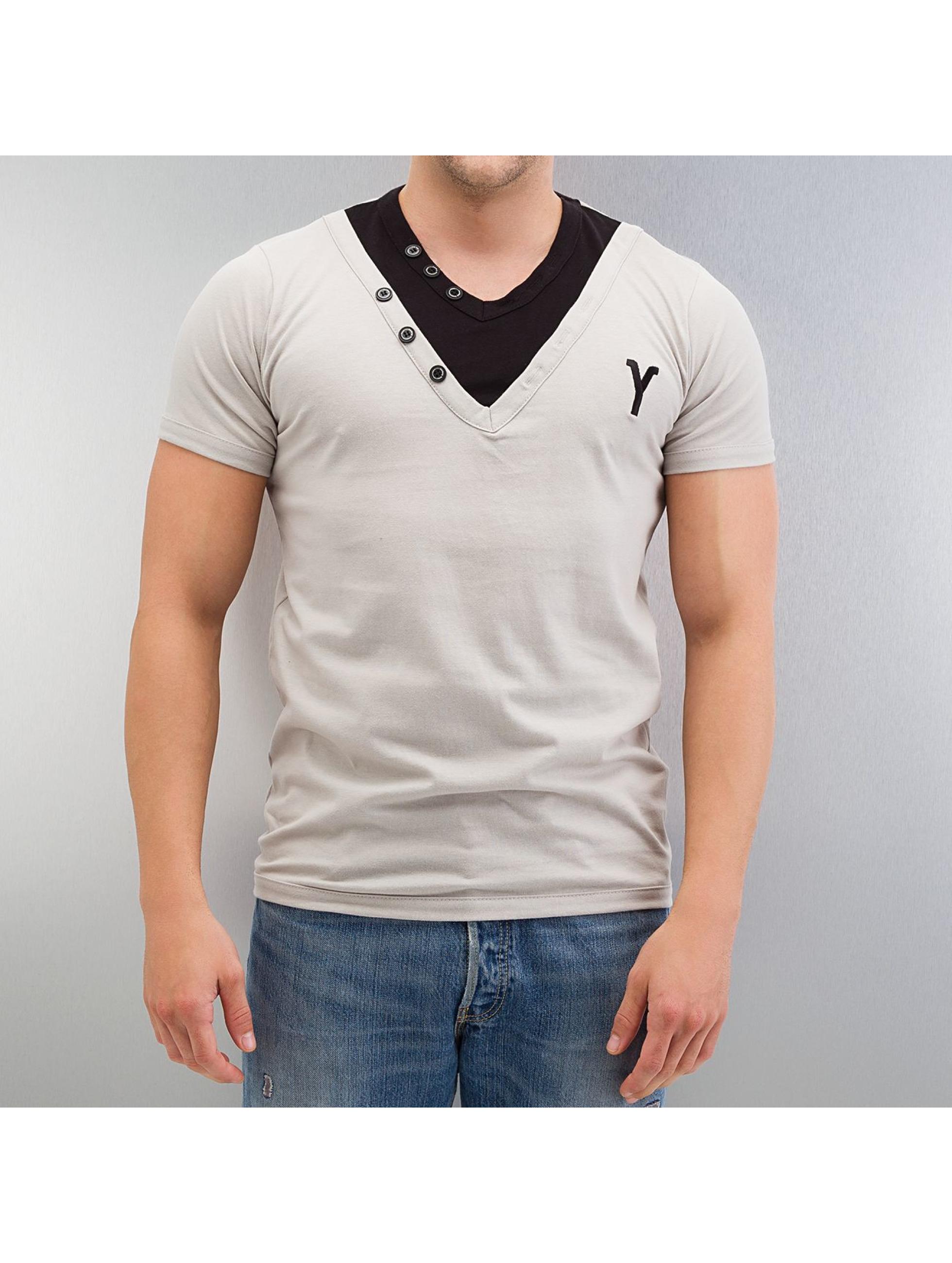 Yezz Candor Slim Fit T Shirt Grey Black