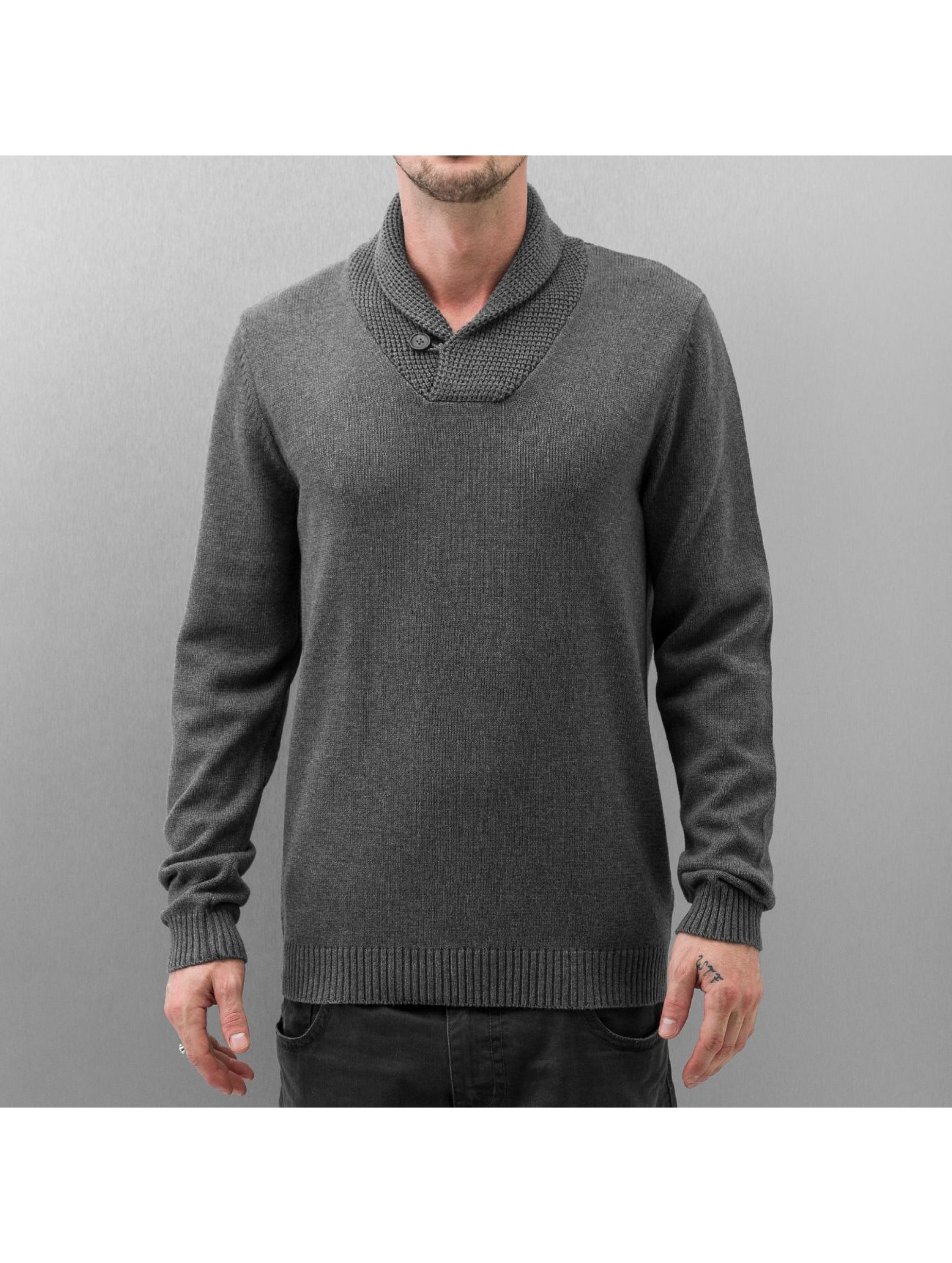 Selected Männer Pullover Chip Shawl in grau