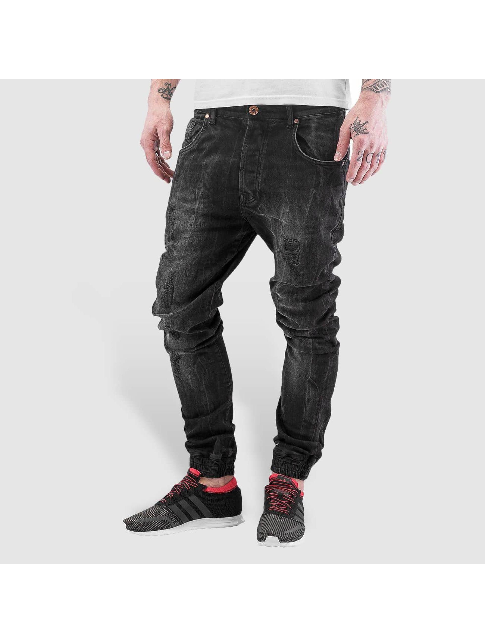 VSCT Clubwear Männer Straight Fit Jeans Noah in schwarz