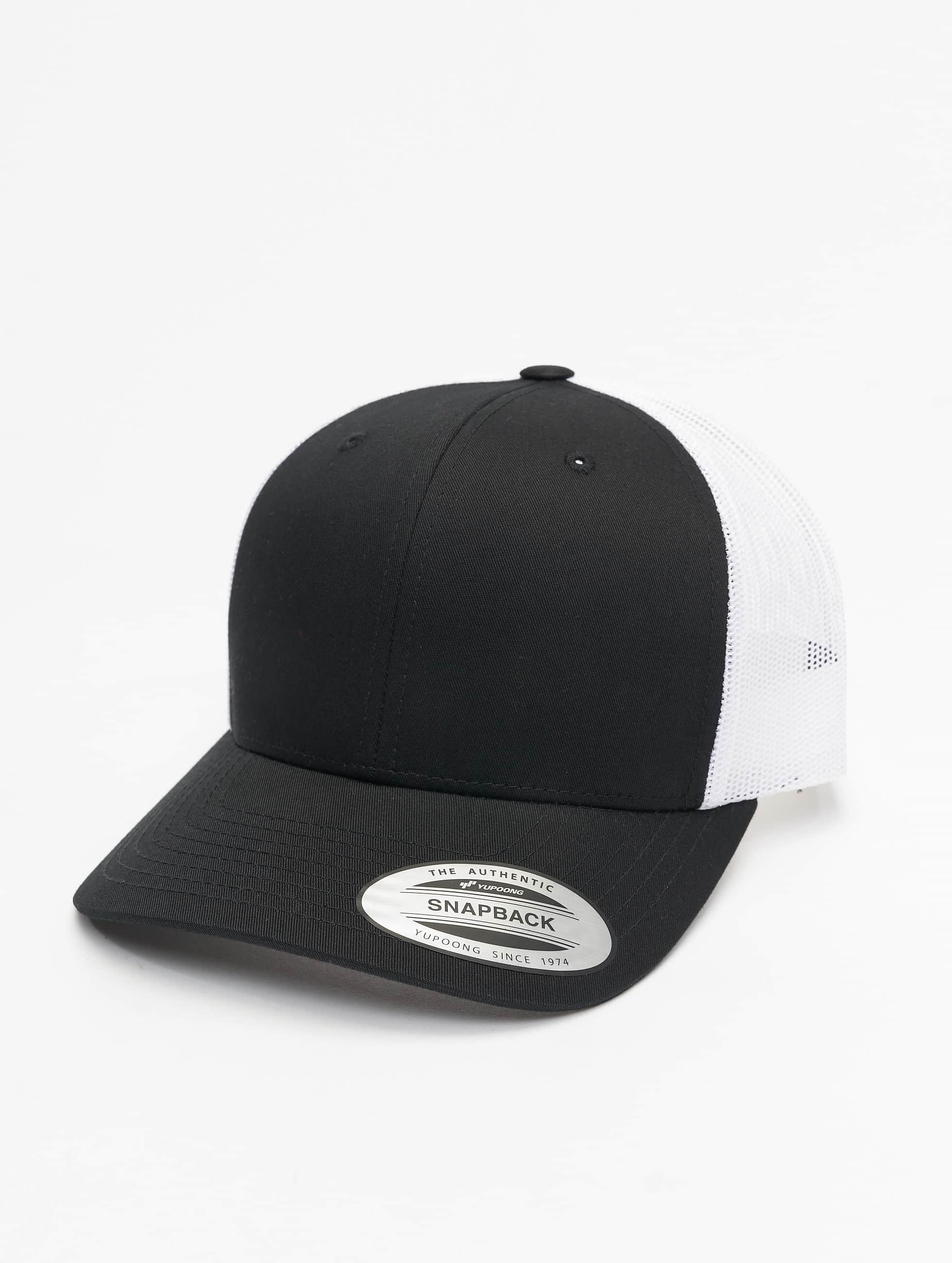 Flexfit Männer,Frauen Trucker Cap Retro in schwarz