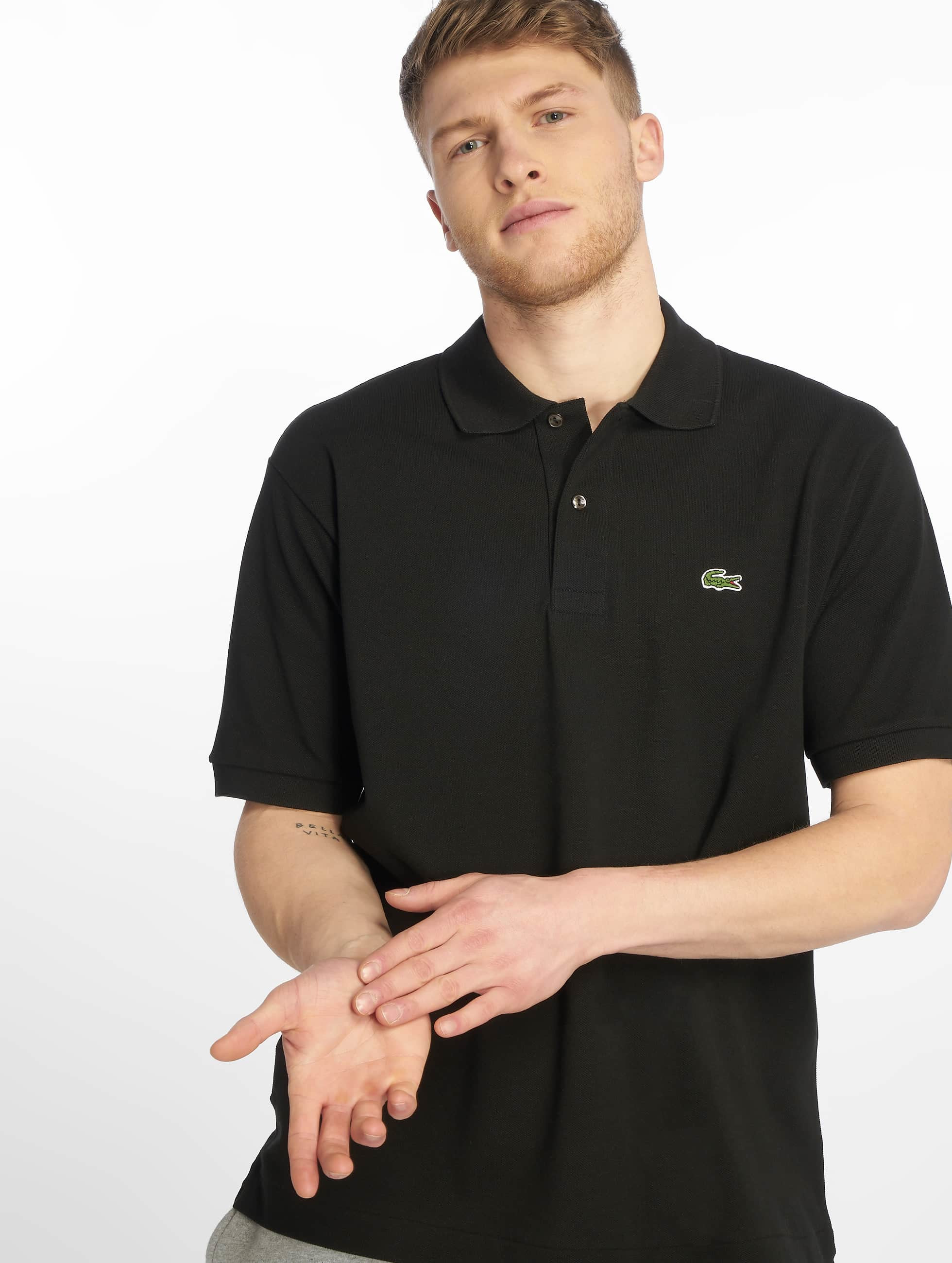 Lacoste Classic Männer Poloshirt Basic in schwarz