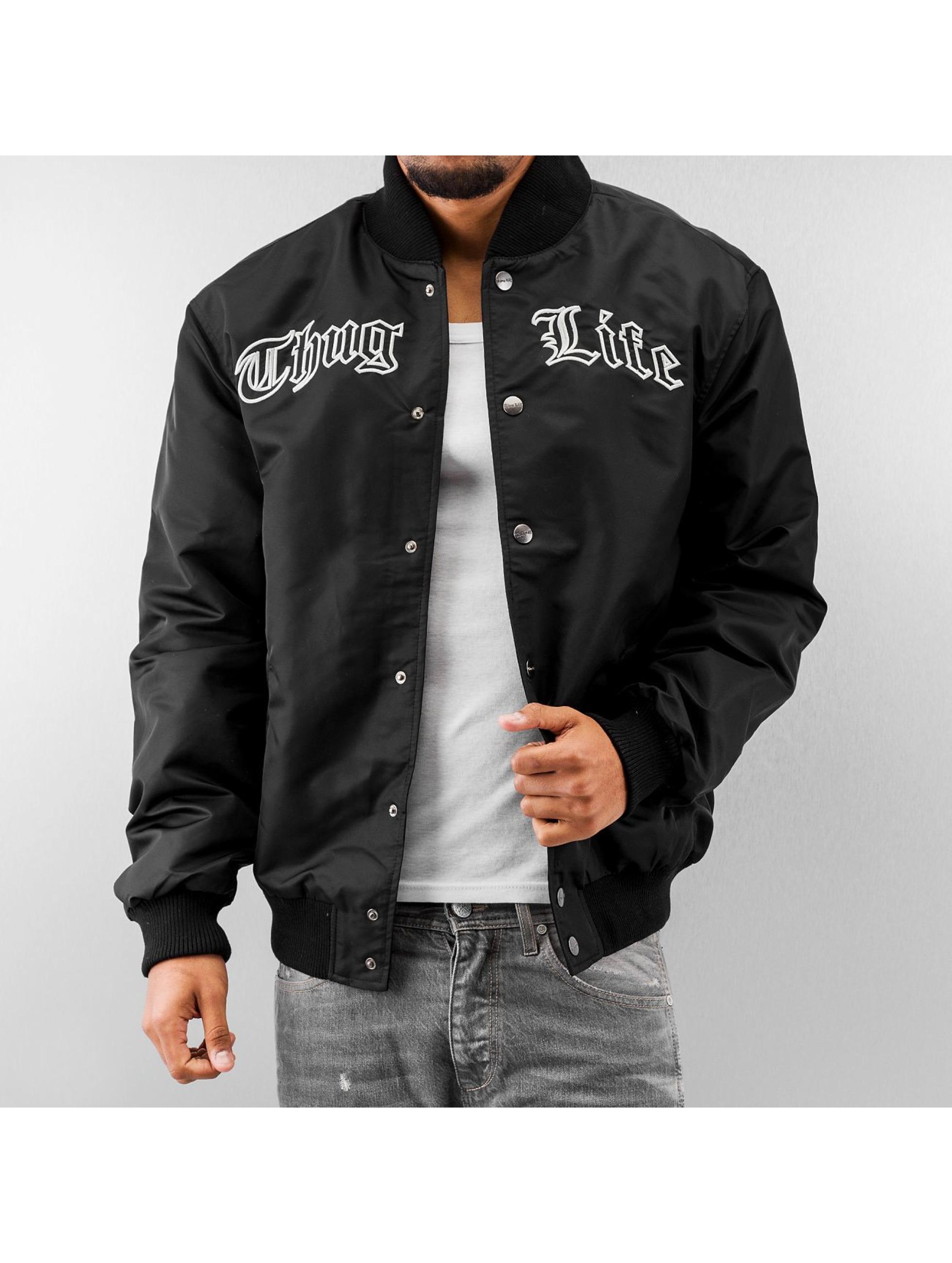 Thug Life Logo College Jacket Black