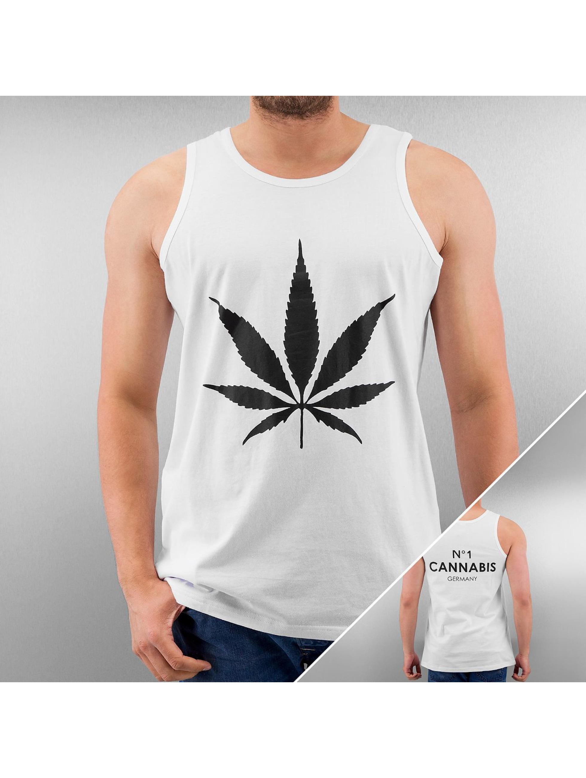 TrueSpin Cannabis No.1 Tank Top White