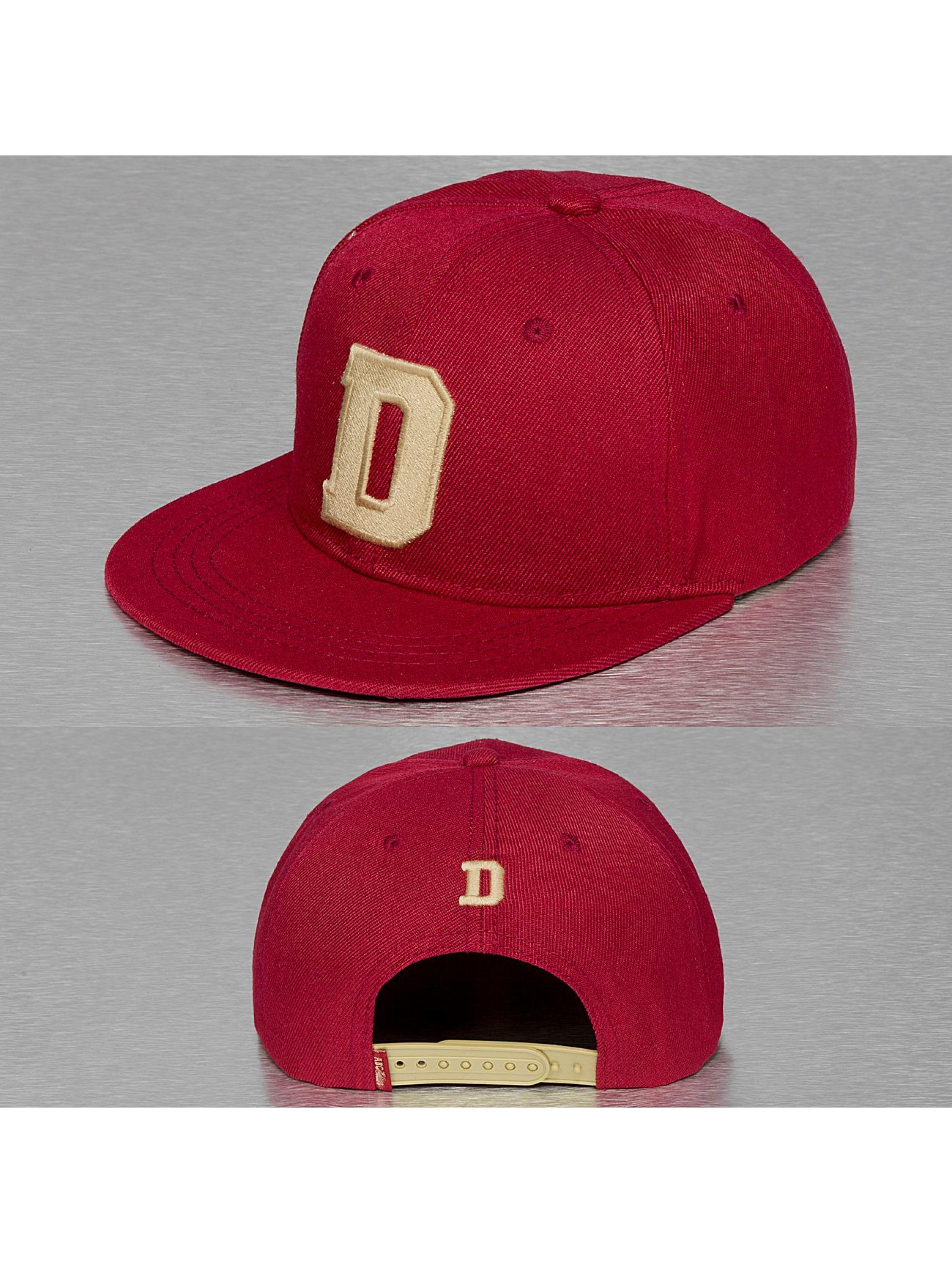 TrueSpin Männer,Frauen Snapback Cap D-ABC Edition in rot