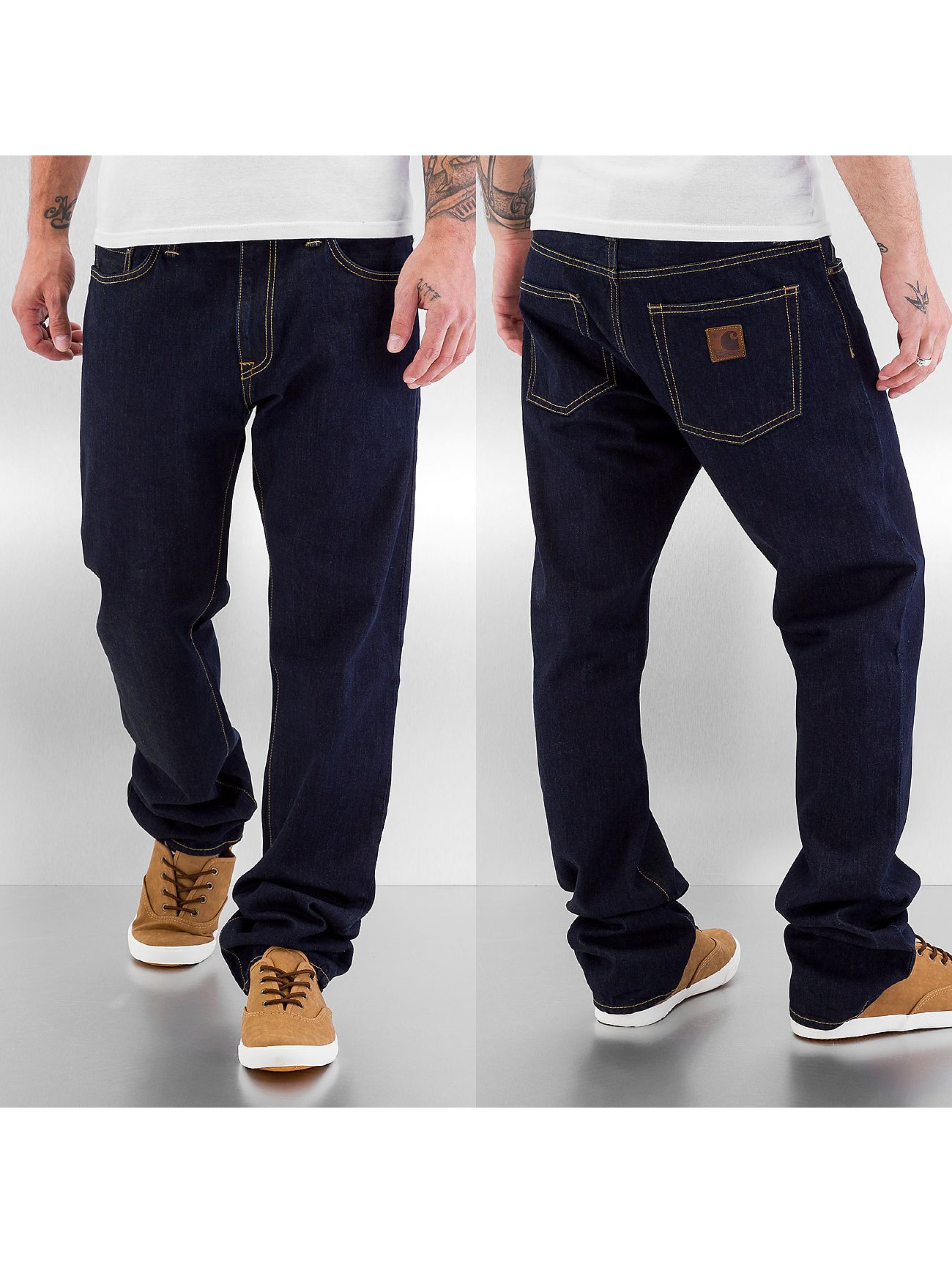 Carhartt WIP Männer Straight Fit Jeans Tracy in blau