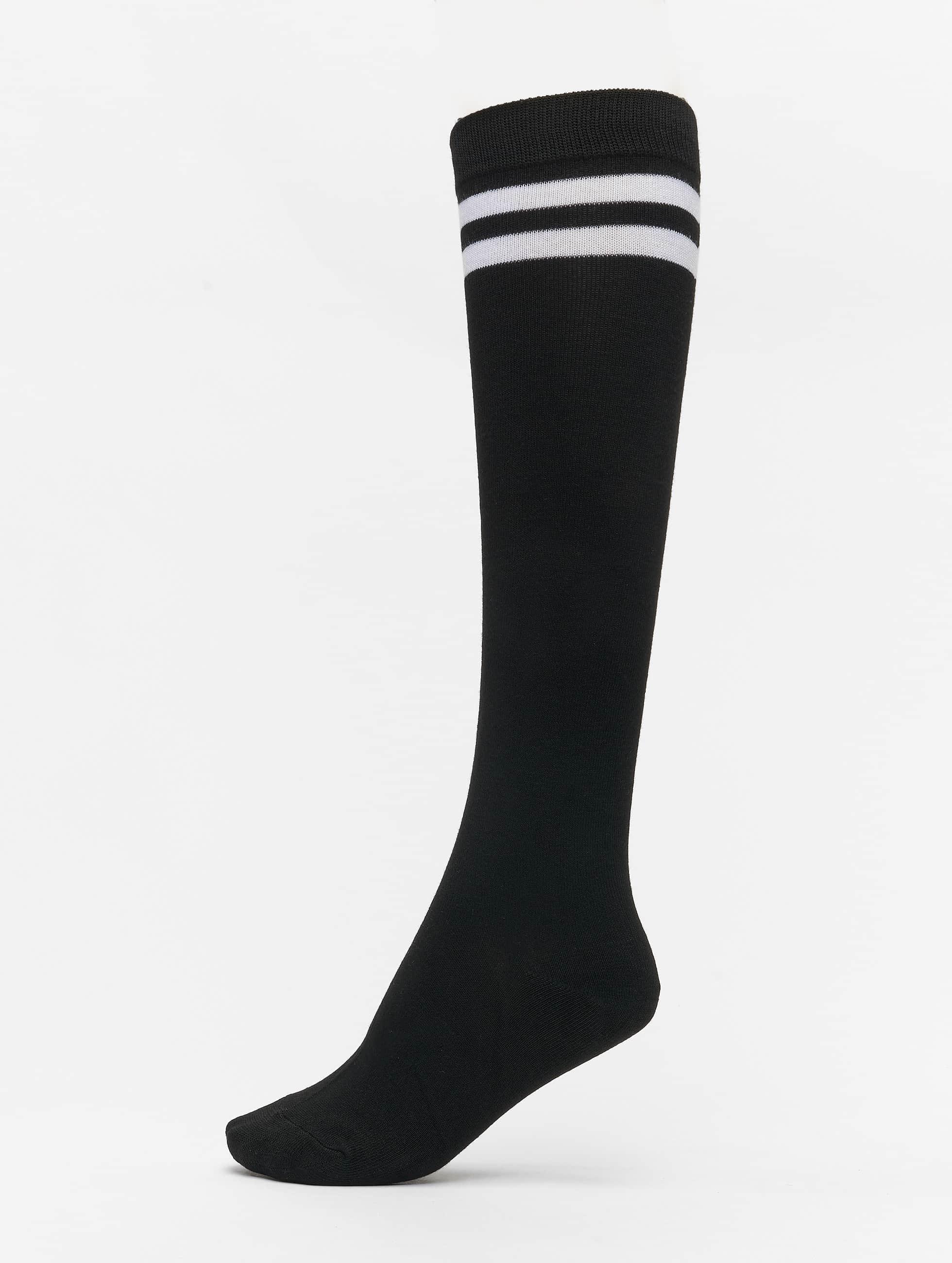 Urban Classics Frauen Socken College in schwarz
