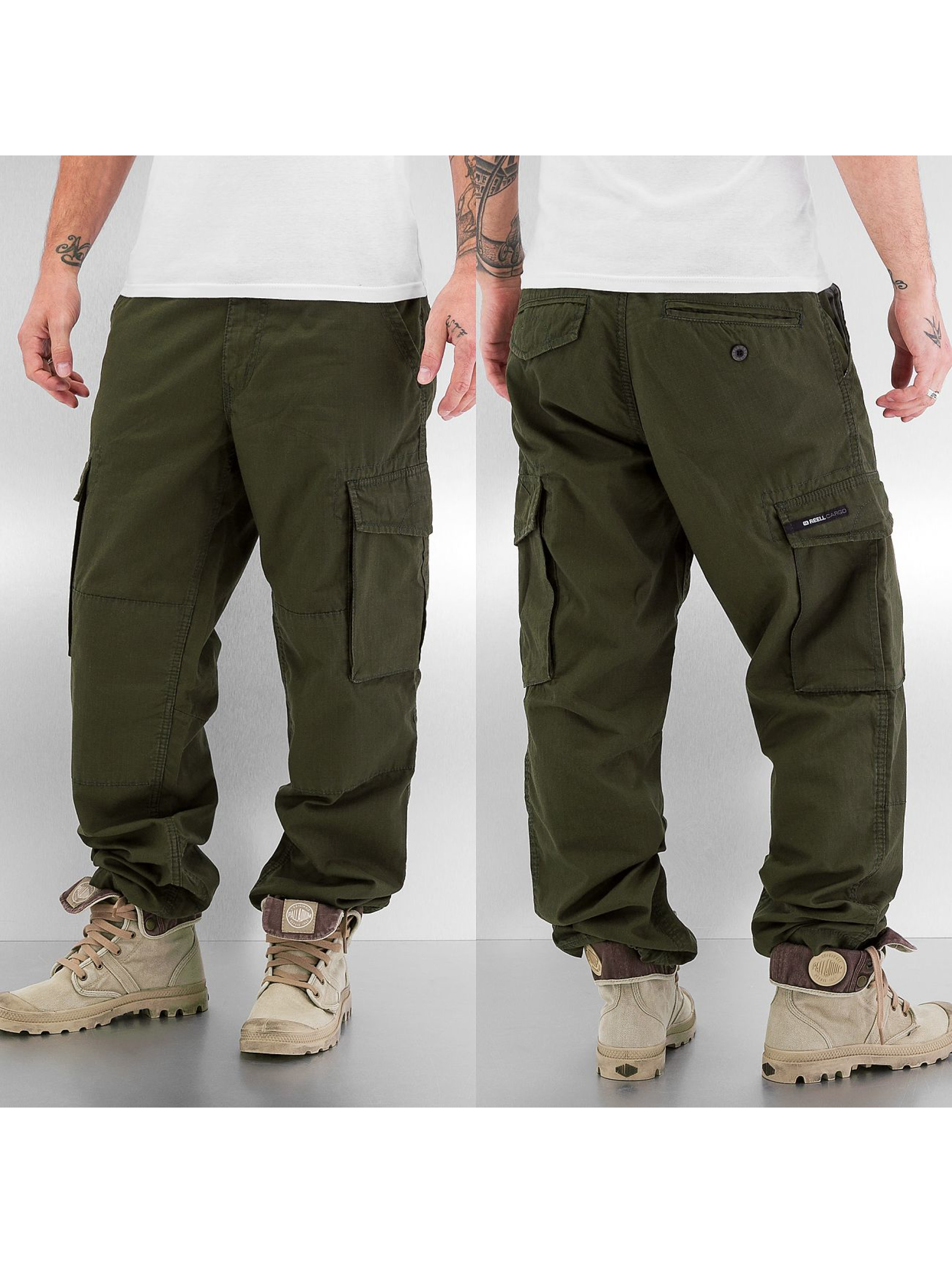 Reell Jeans Männer Cargohose Ripstop in grün