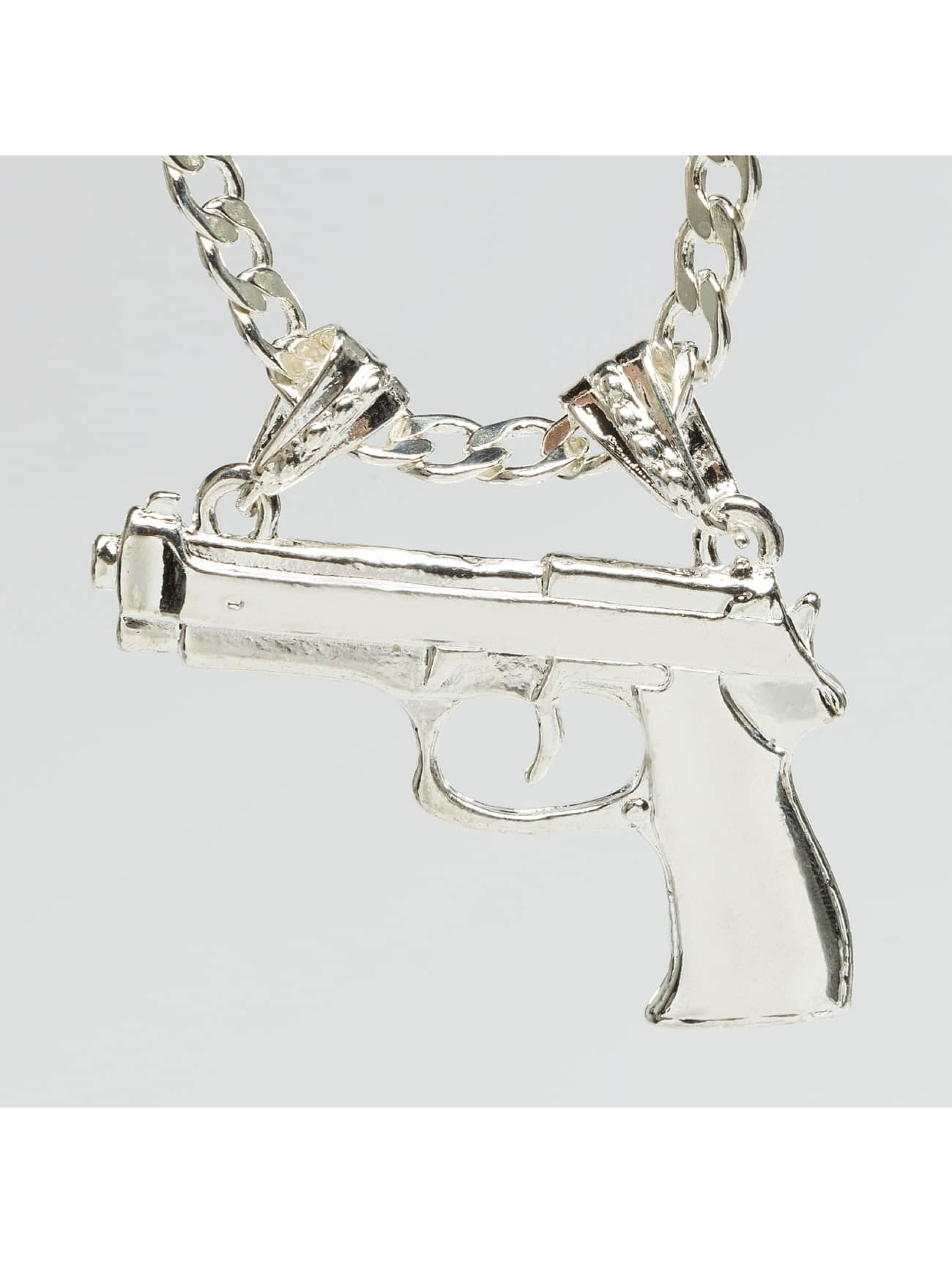 Paris Jewelry Männer,Frauen Kette Pistol in silberfarben