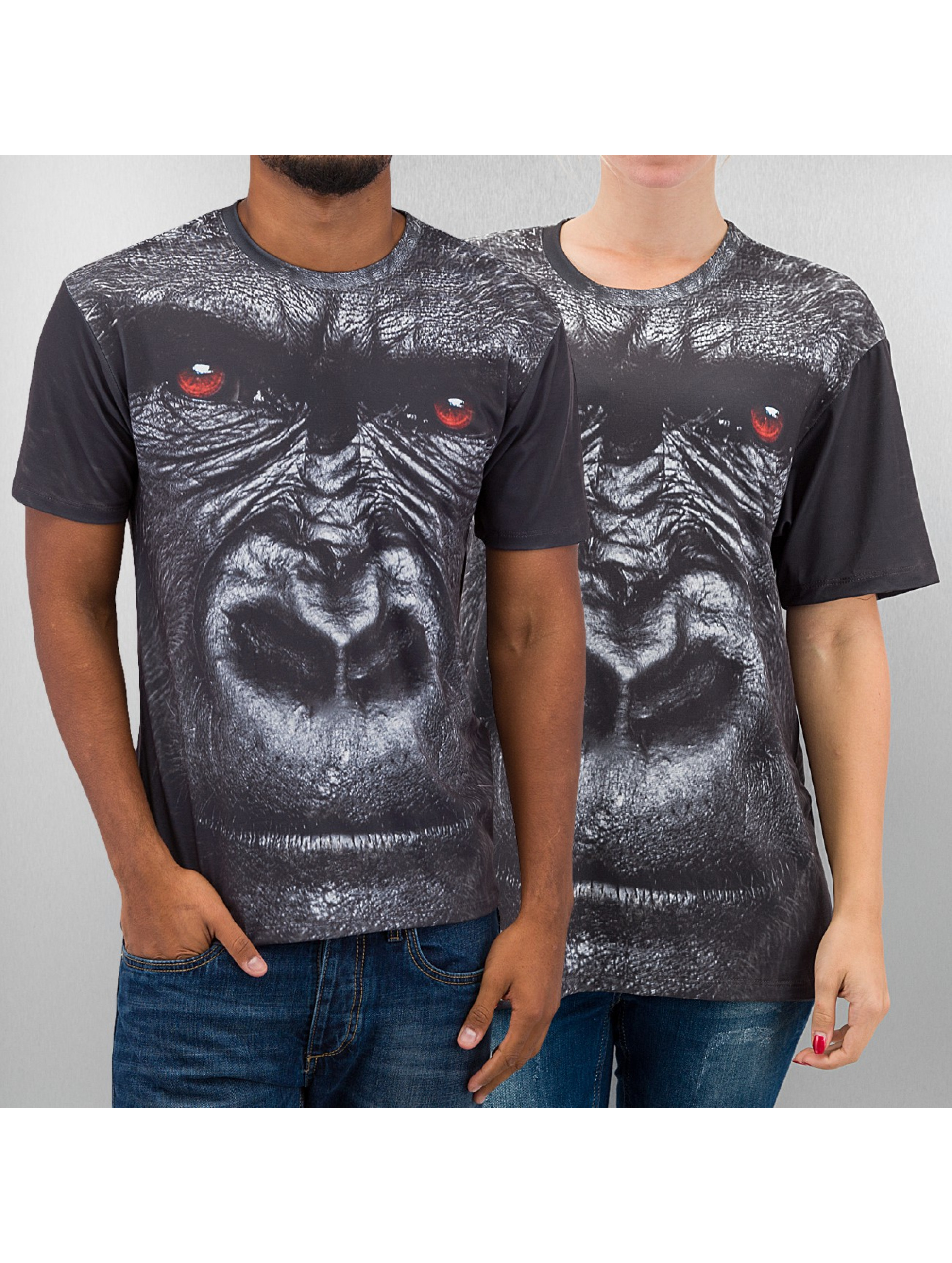 Mr. Gugu & Miss Go Männer,Frauen T-Shirt Gorilla in grau
