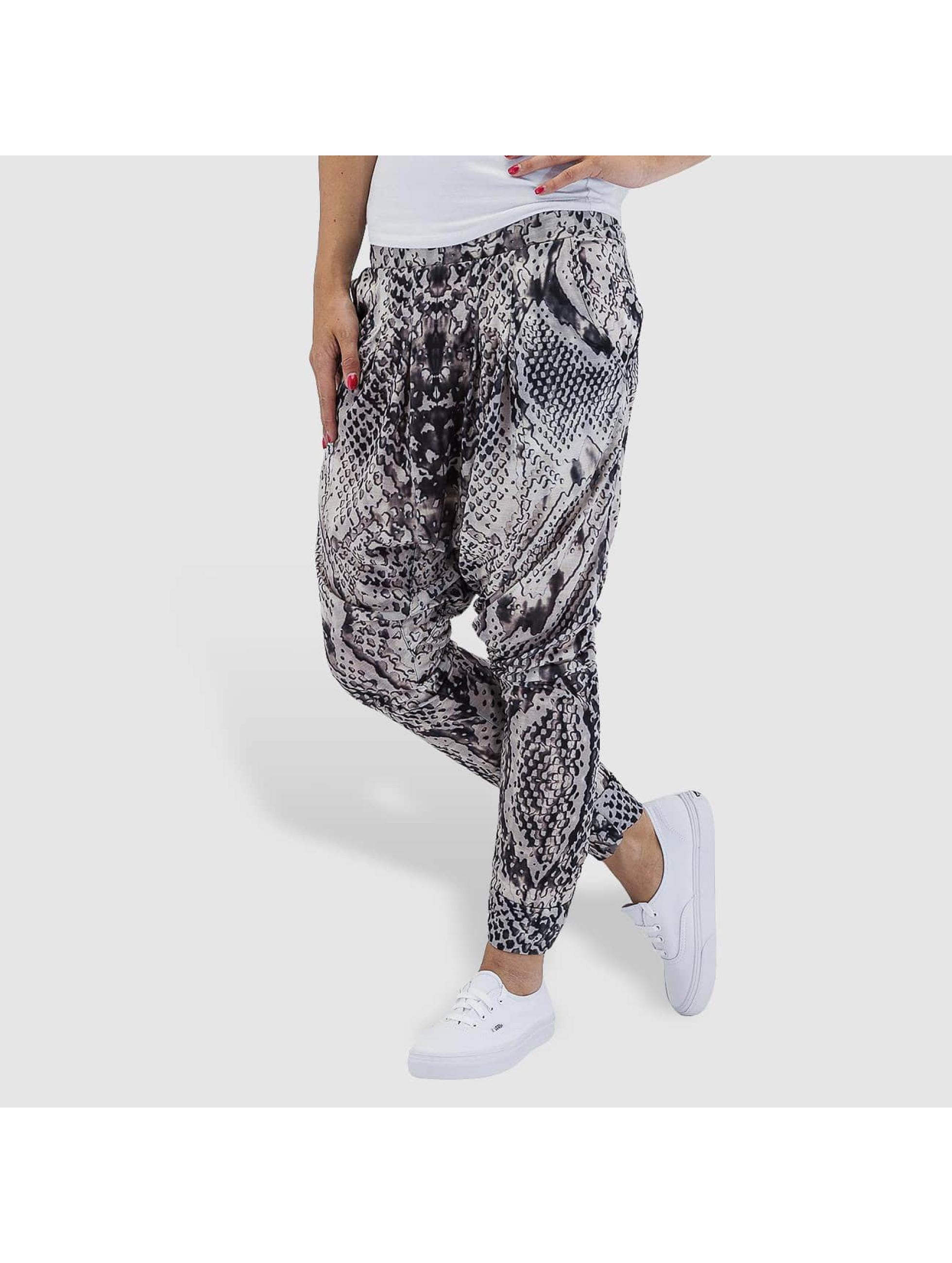 VSCT Clubwear Frauen Jogginghose Python Jersey in grau