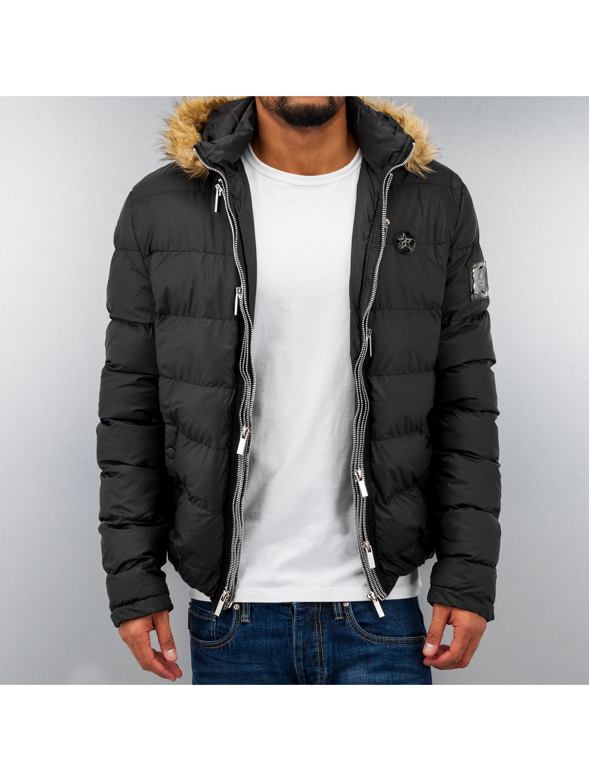 Cipo Baxx Star Winter Jacket Black