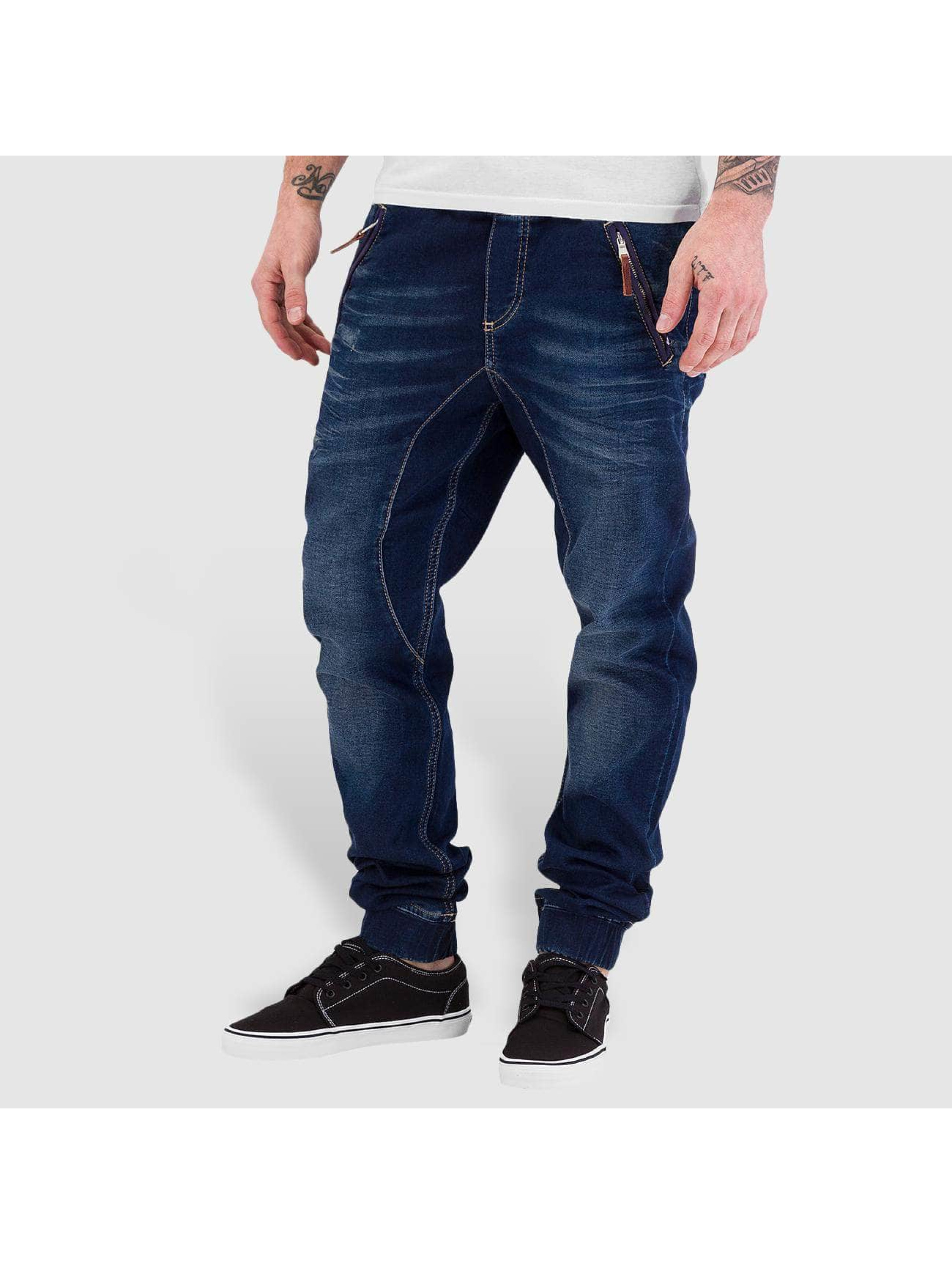 Red Bridge Männer Jogginghose Jeans Look in blau