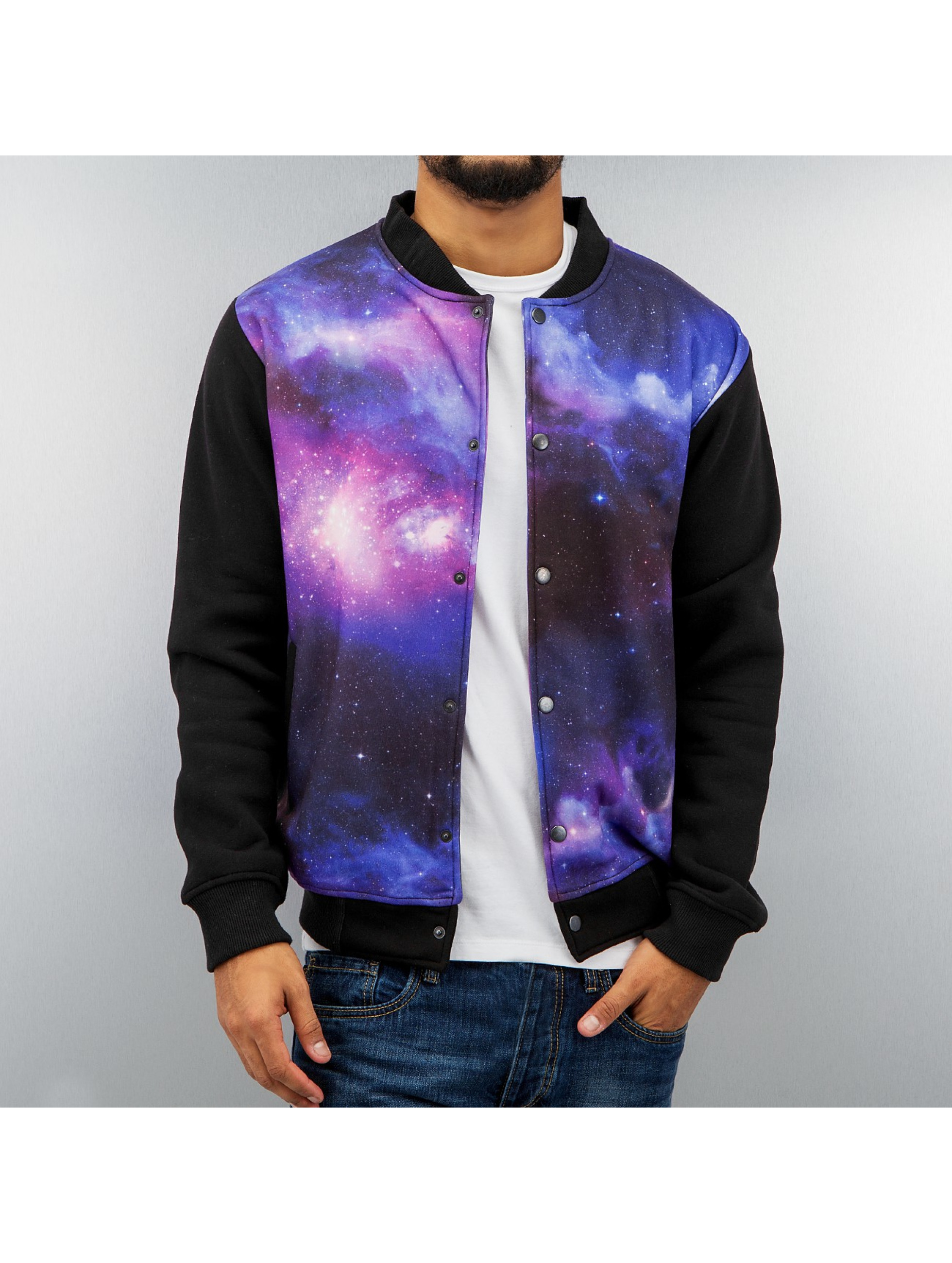 Just Rhyse Galaxy College Jacket Purple