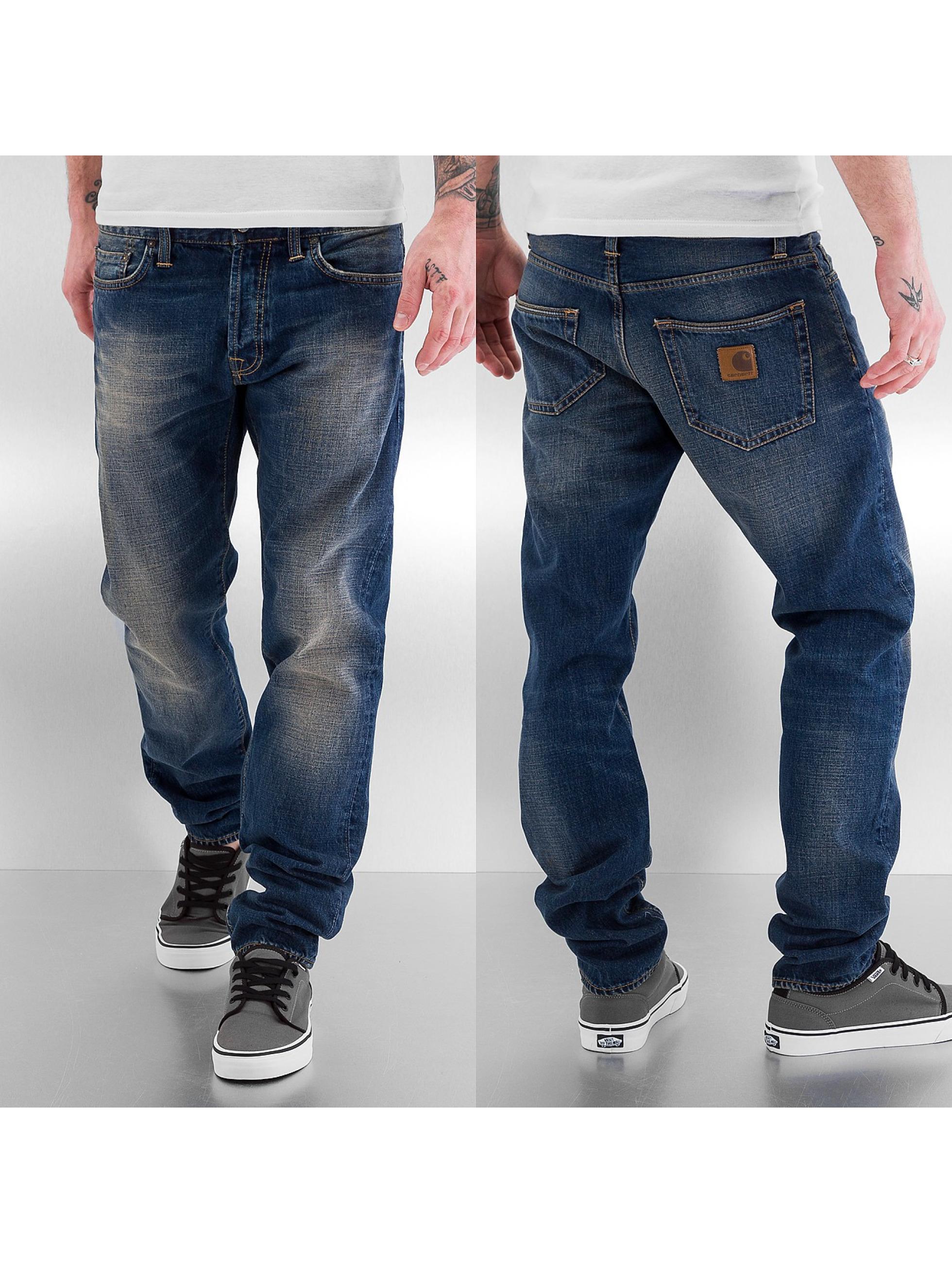 Carhartt WIP Männer Straight Fit Jeans Edgewood in blau