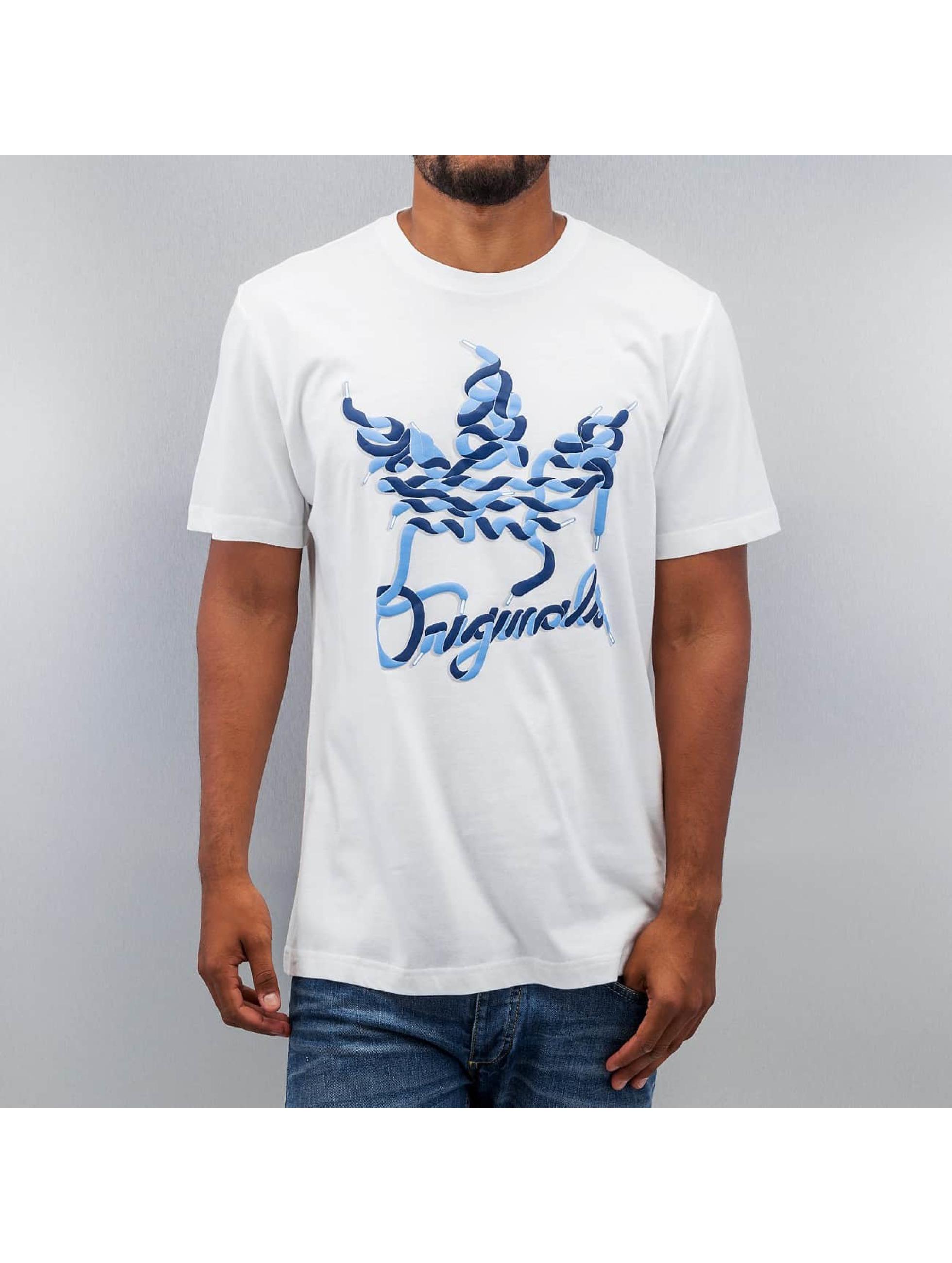 adidas Laces Trefoil T Shirt White