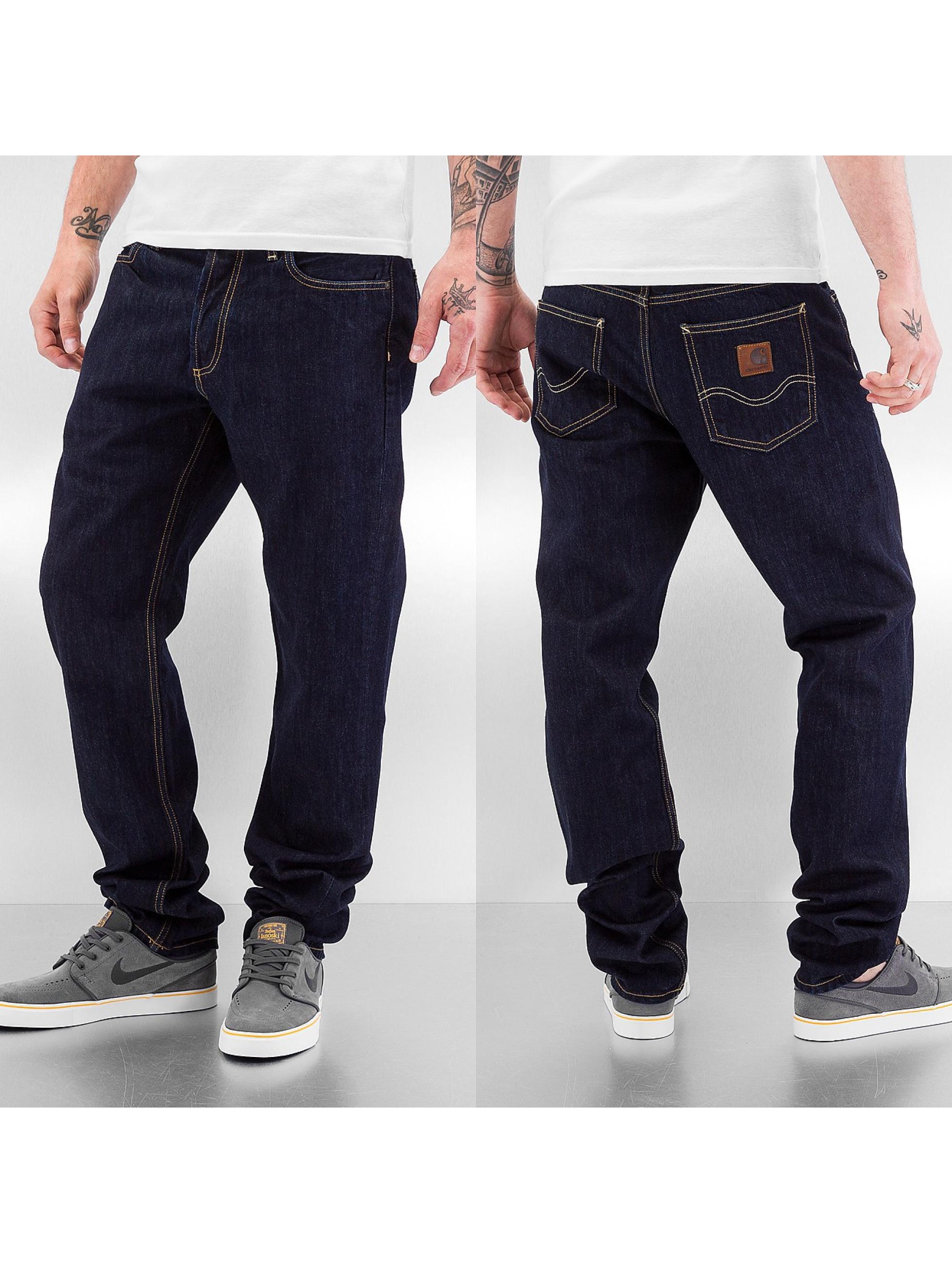 Carhartt WIP Männer Straight Fit Jeans Merced Texas II in blau