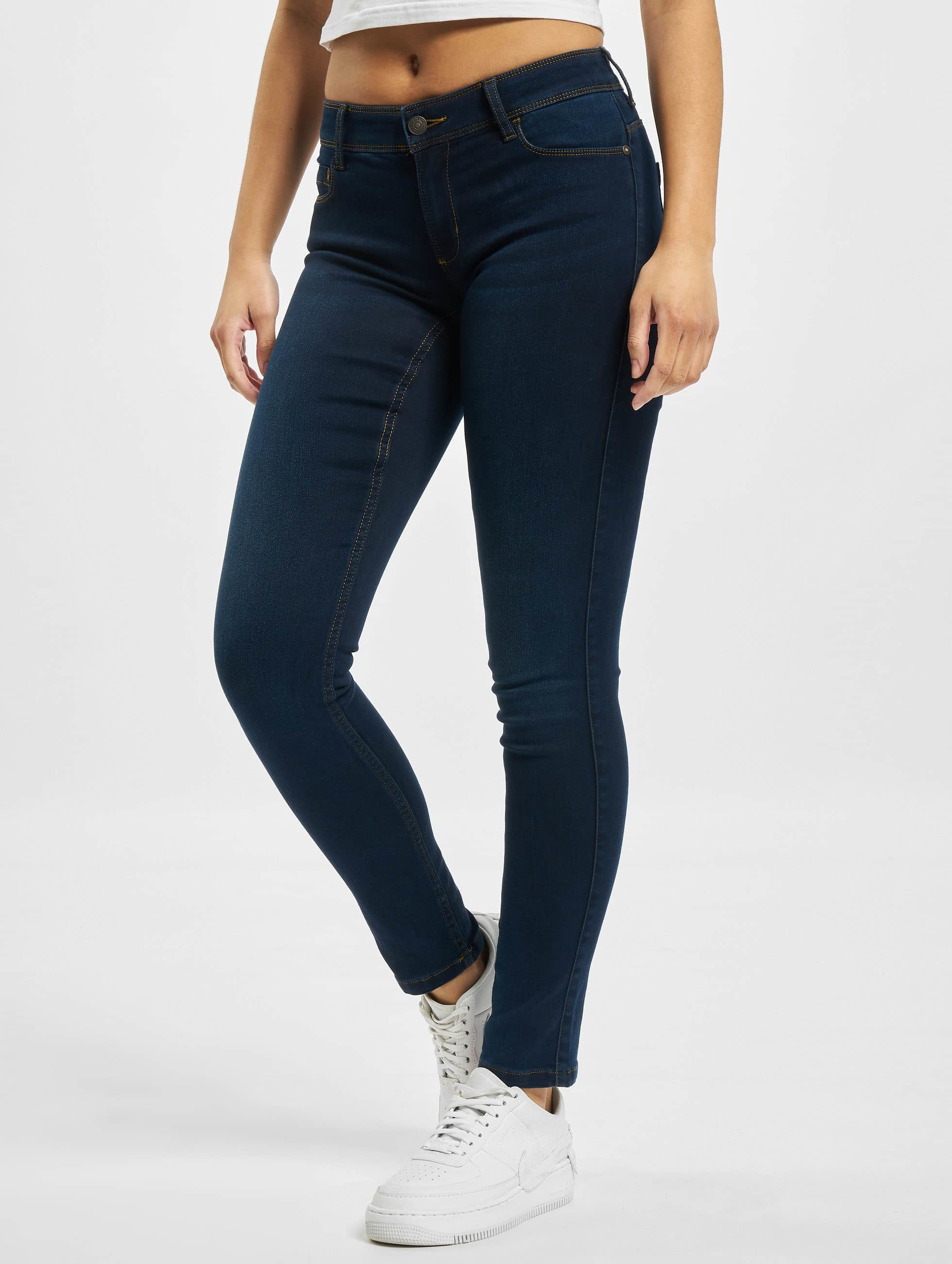 Only Frauen Skinny Jeans Doft Ultimate Regular in blau