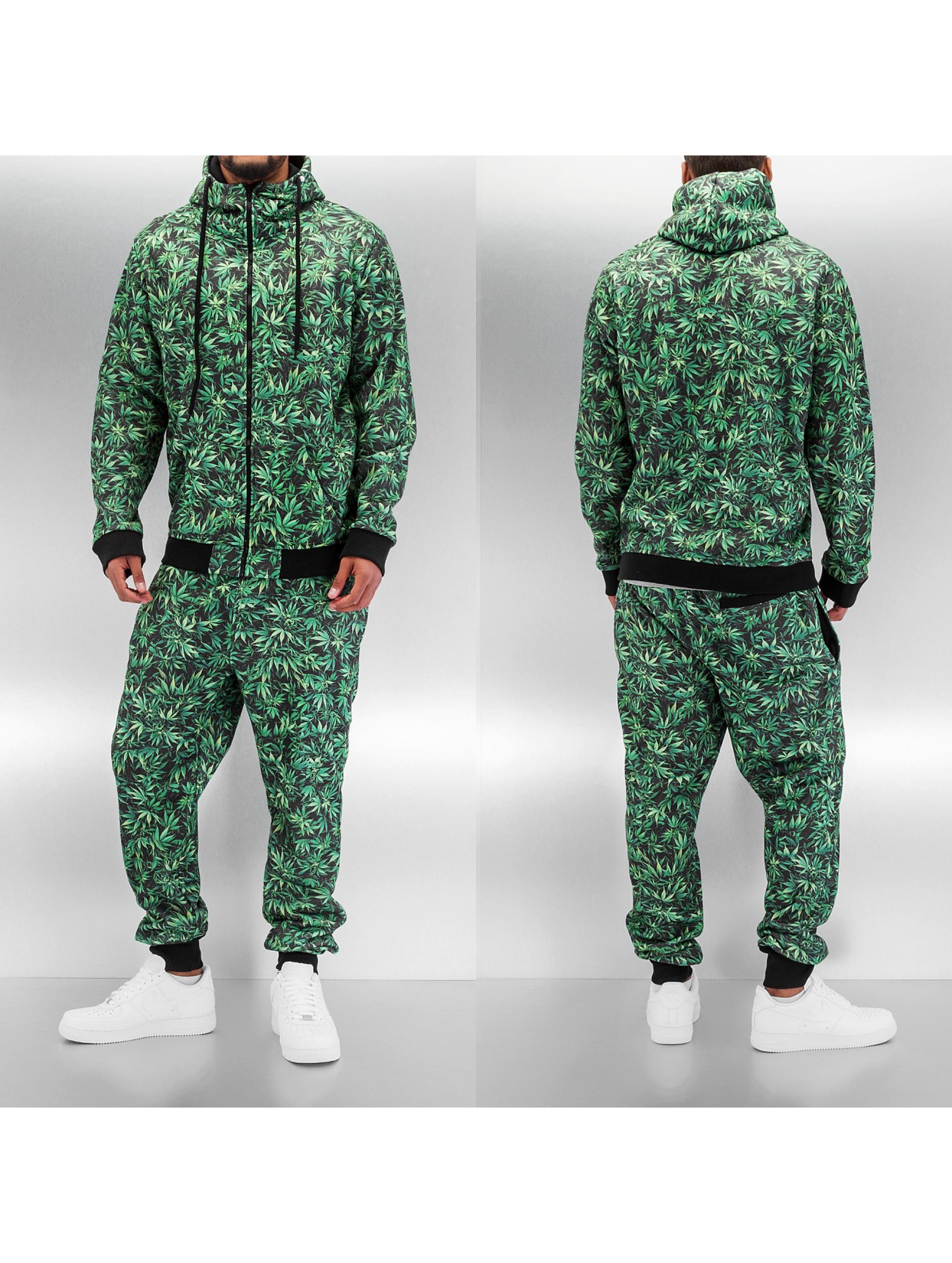 Dangerous DNGRS Hemp Sweat Suit Green