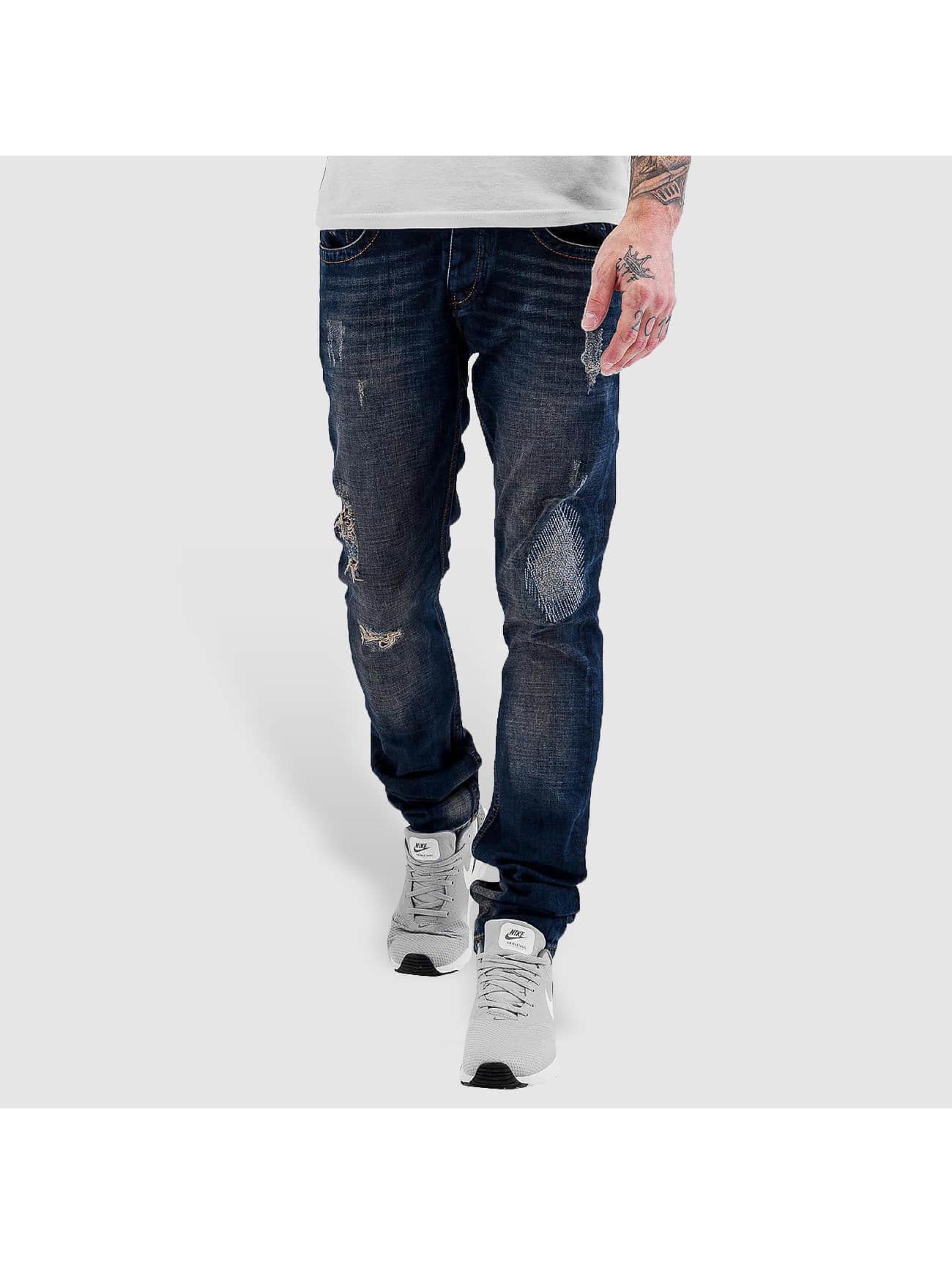 Bangastic Männer Straight Fit Jeans Lightning in blau