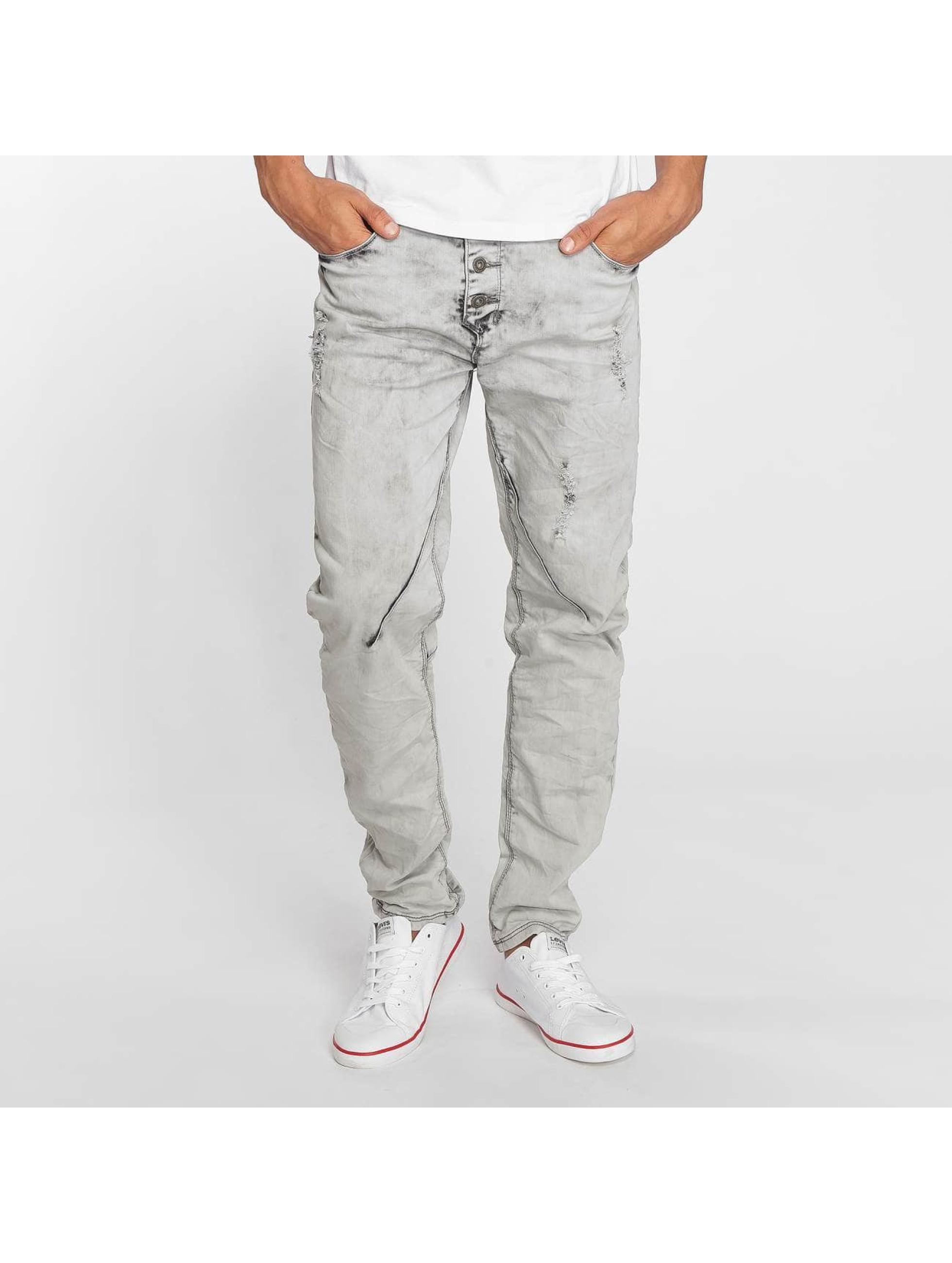 Sky Rebel Männer Straight Fit Jeans Elay in grau