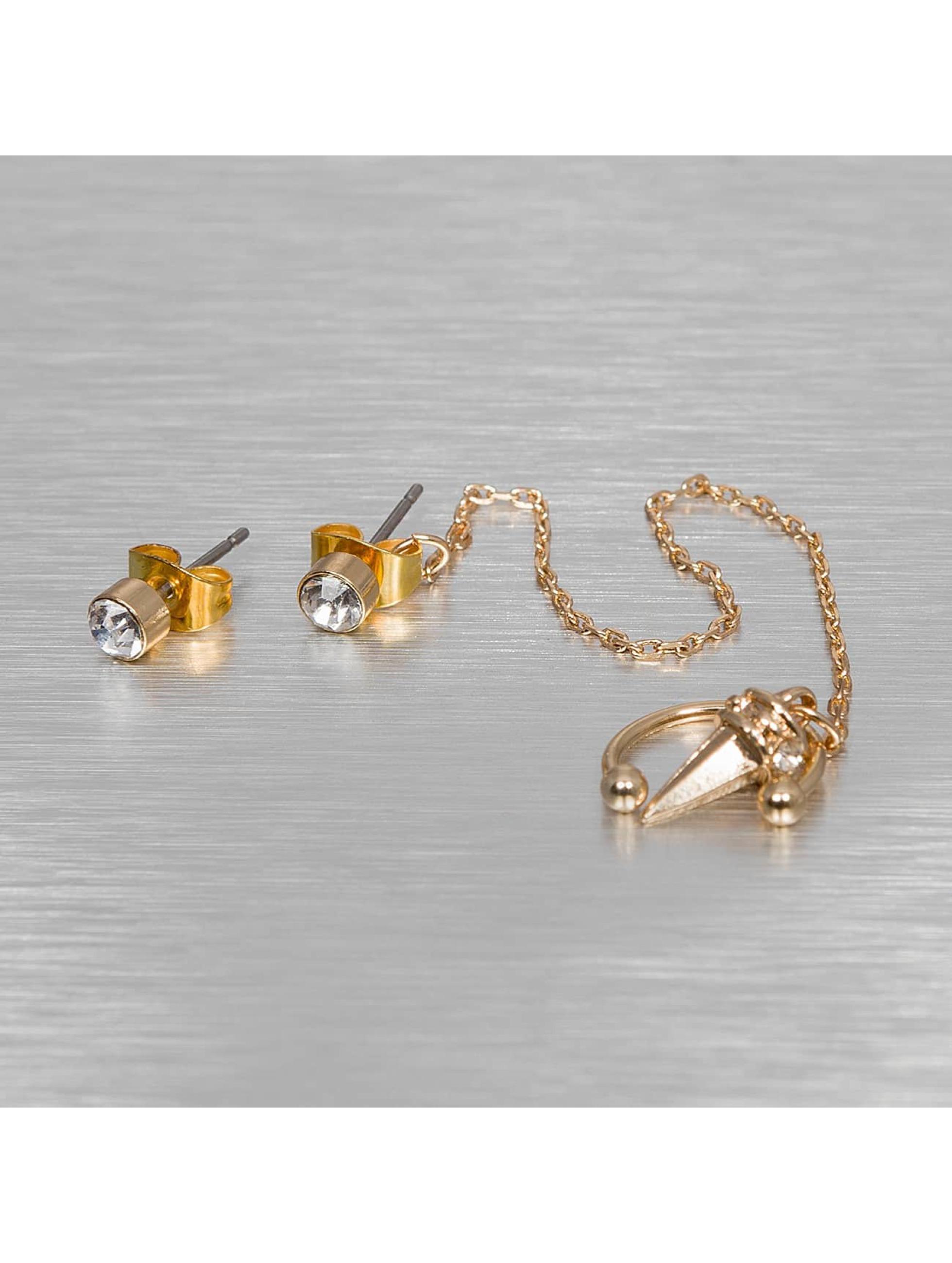 Pieces Frauen Ohrringe pcRona in goldfarben