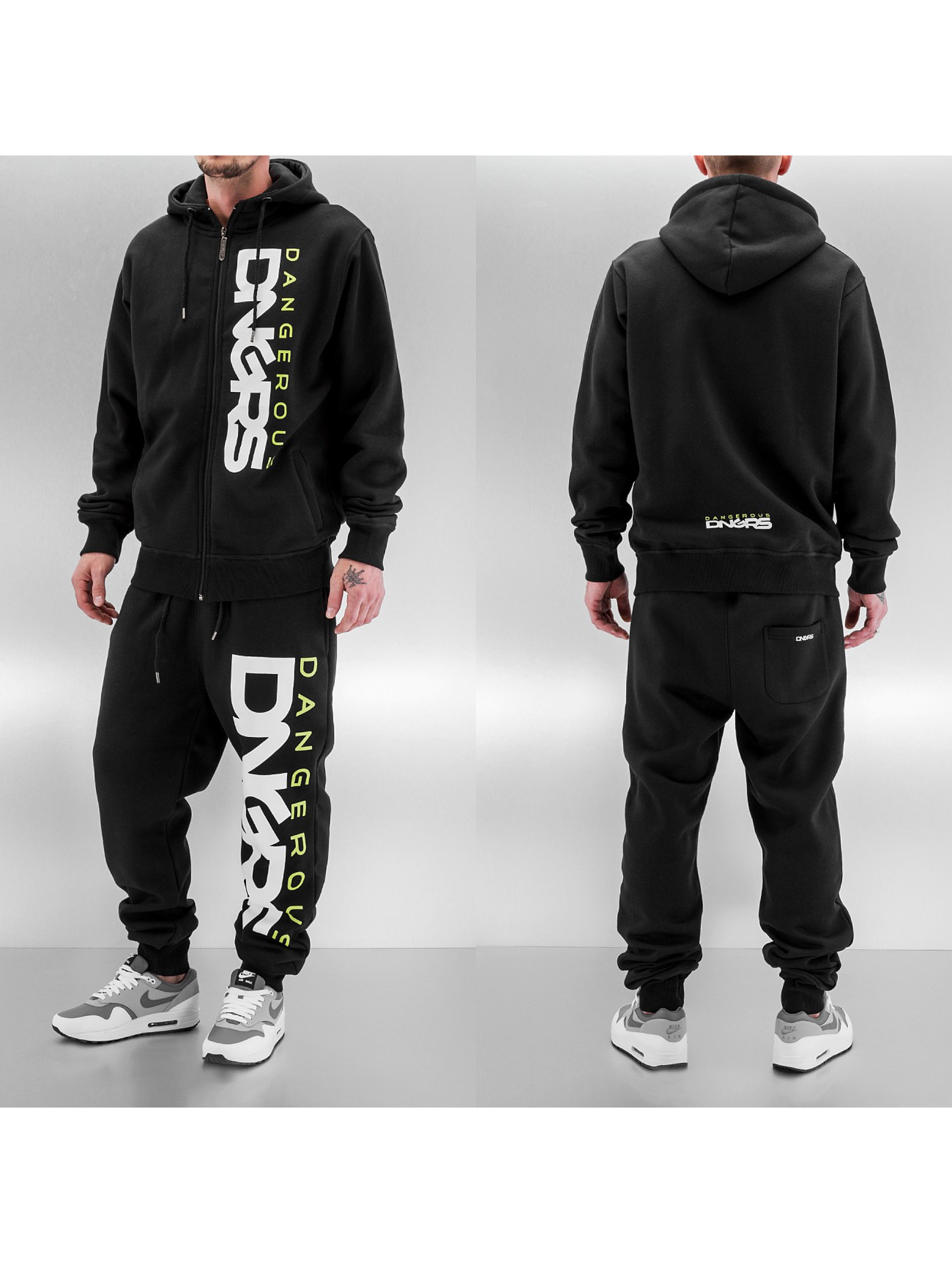 Dangerous DNGRS Classic Sweat Suit Black Green