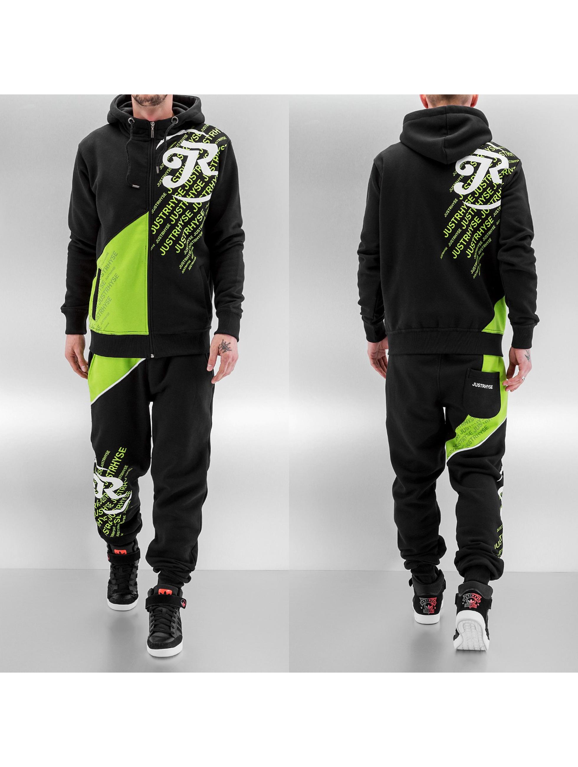 Just Rhyse Logo Sweat Suit Black Green