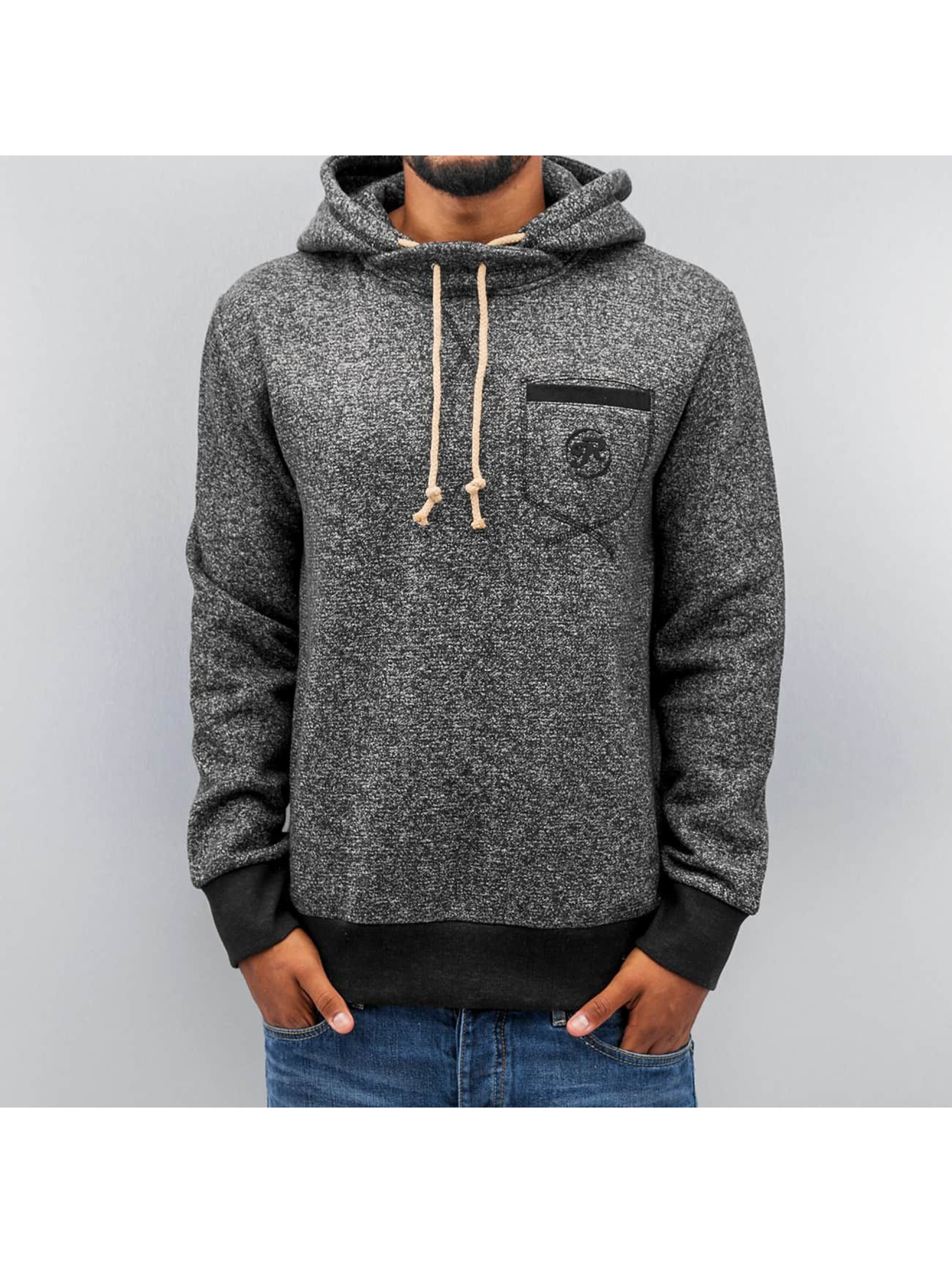 Just Rhyse Breast Pocket Hoody Black Melange Sale Angebote Hosena