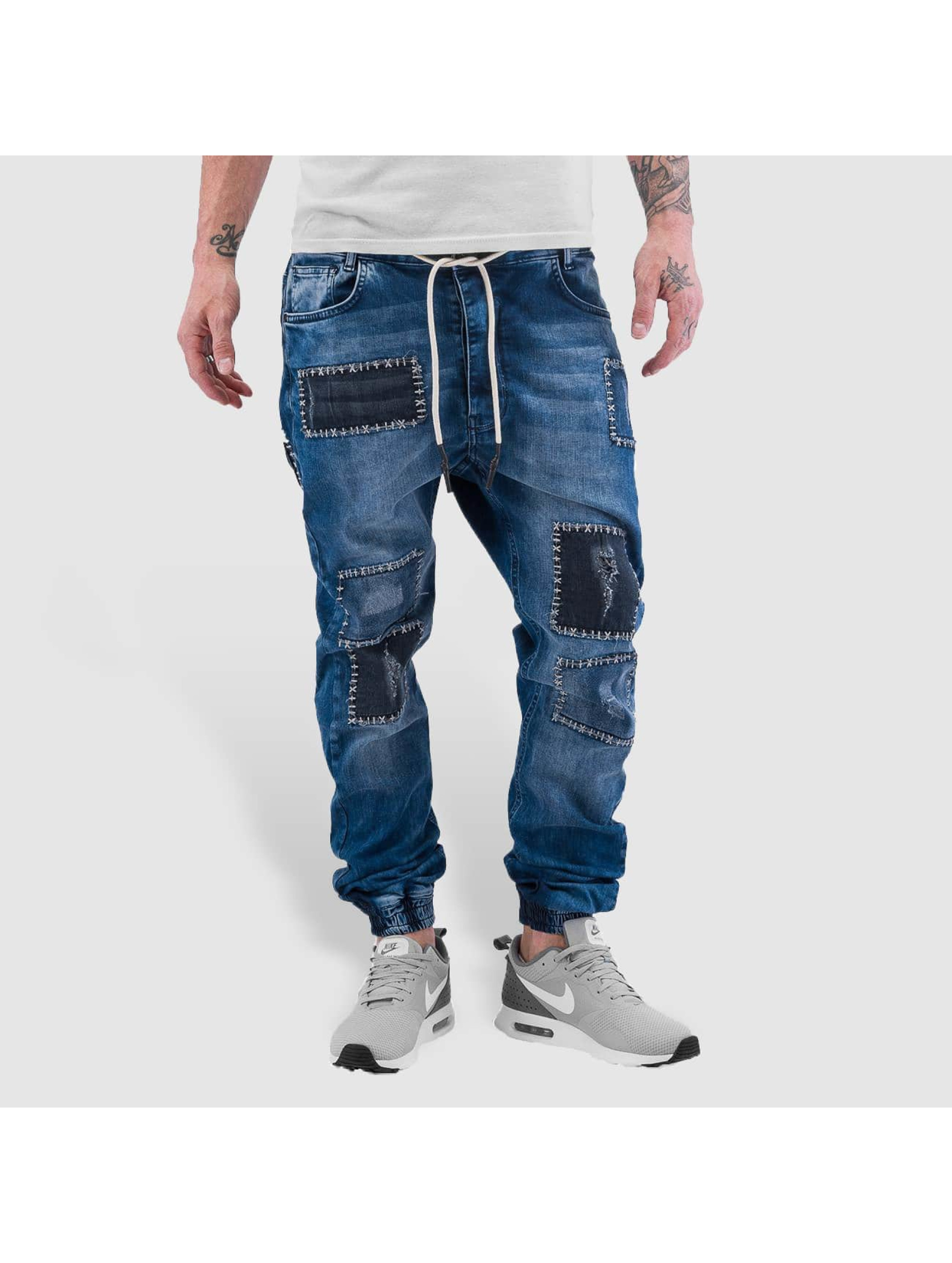 Groß Oßnig Angebote Just Rhyse Männer Straight Fit Jeans Patches in blau