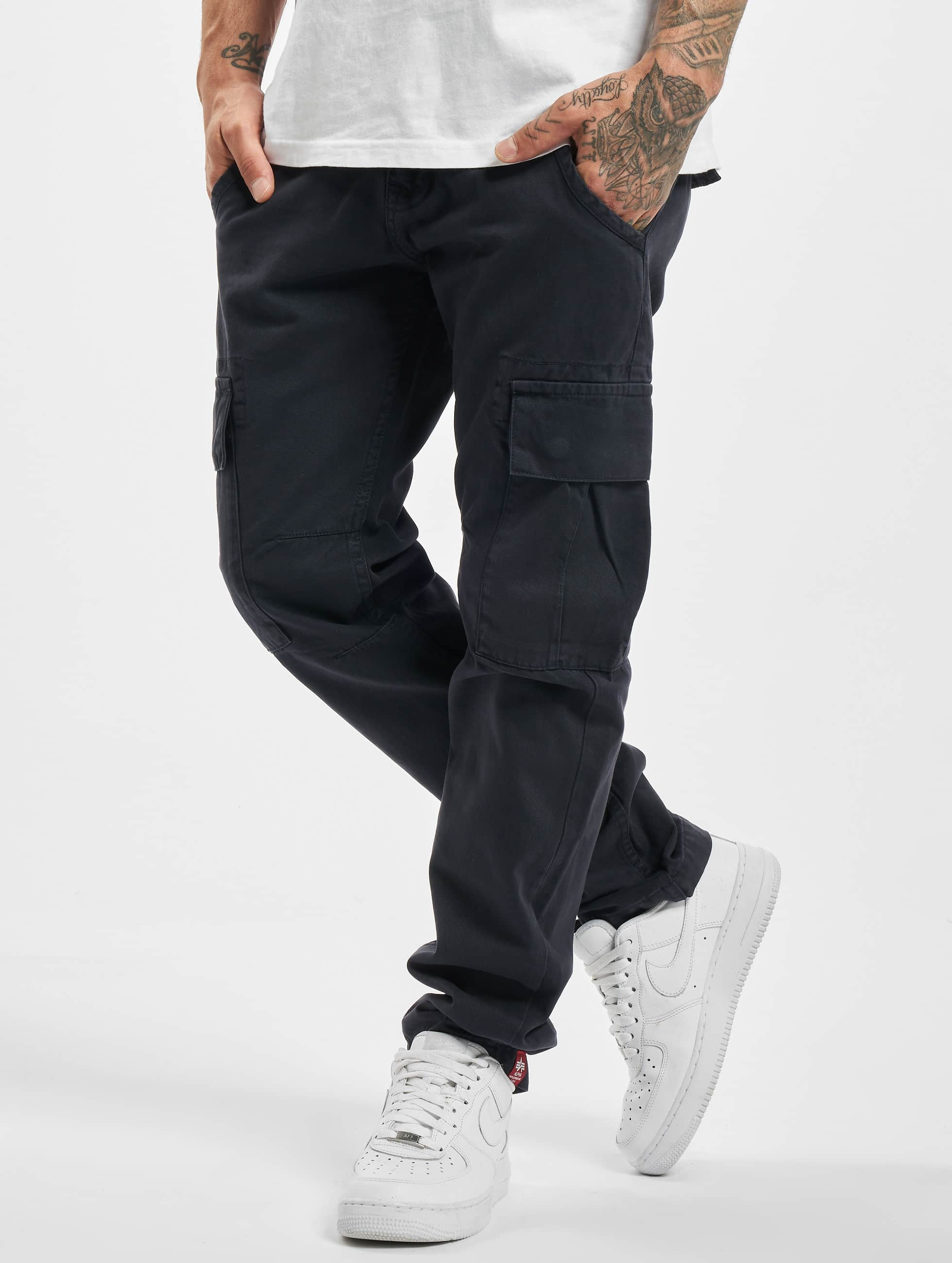 Alpha Industries Männer Cargohose Agent in blau