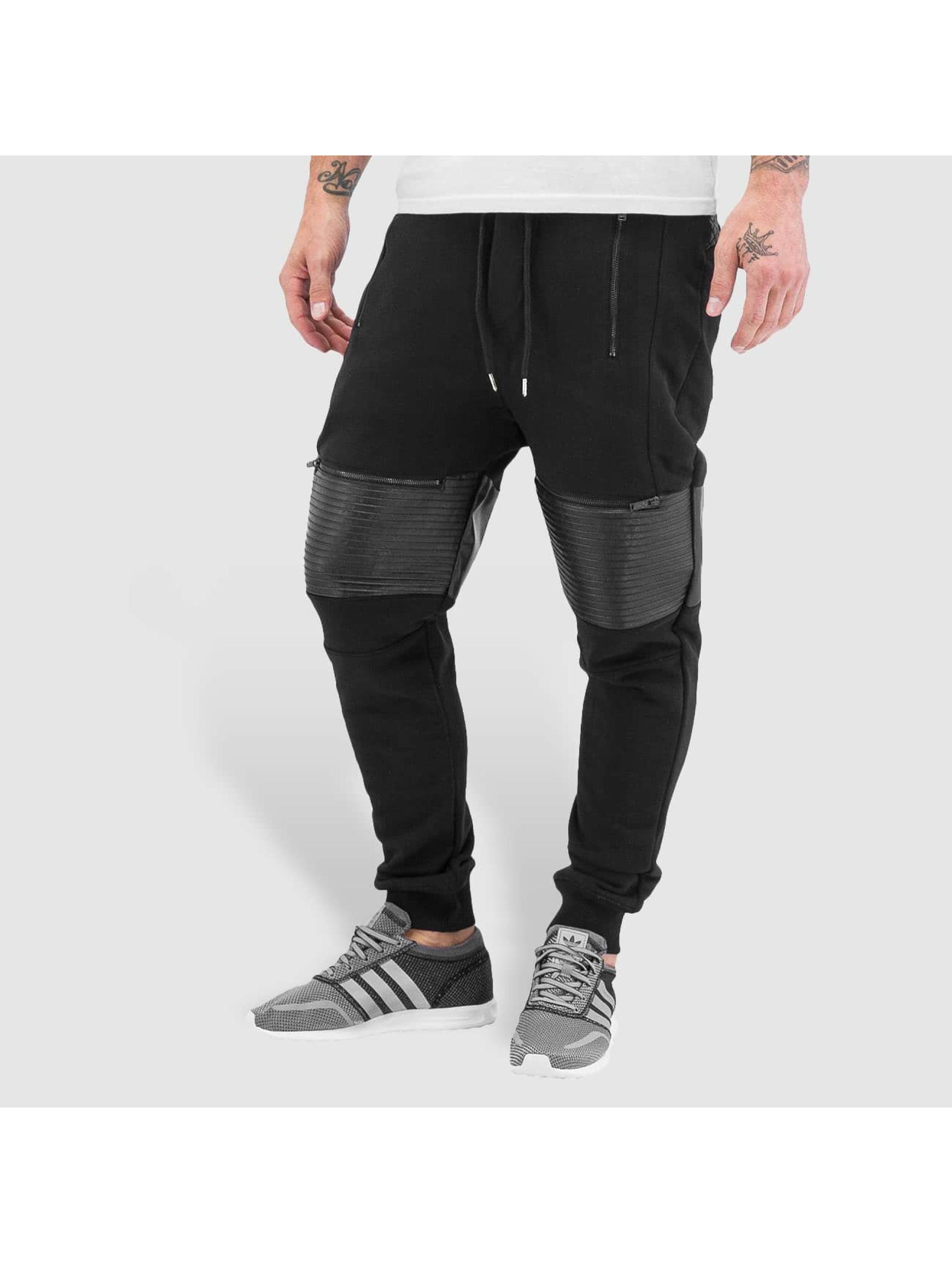 VSCT Clubwear Männer Jogginghose BikerSweatPants in schwarz