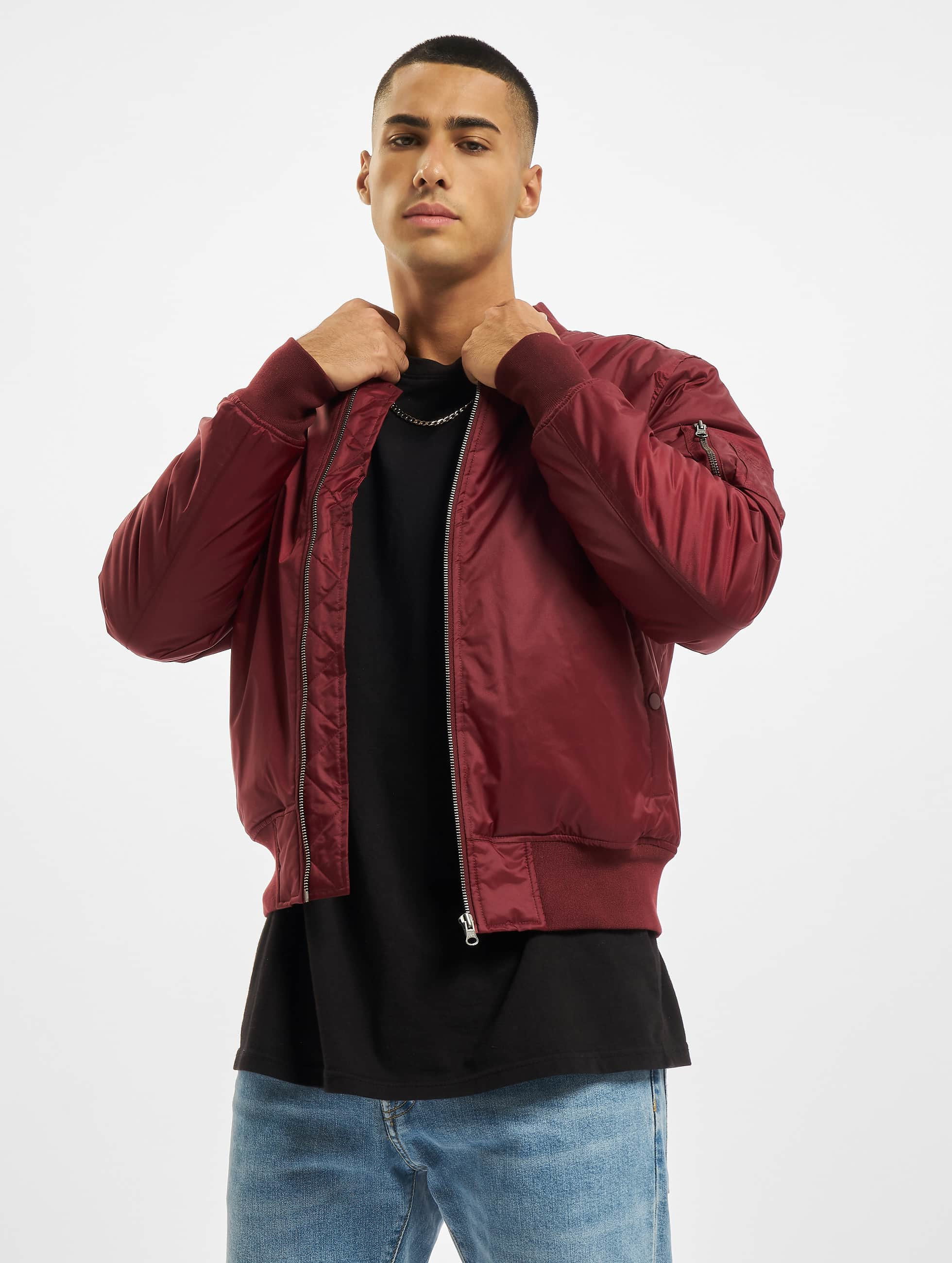 Urban Classics Basic Bomber Jacket Burgundy