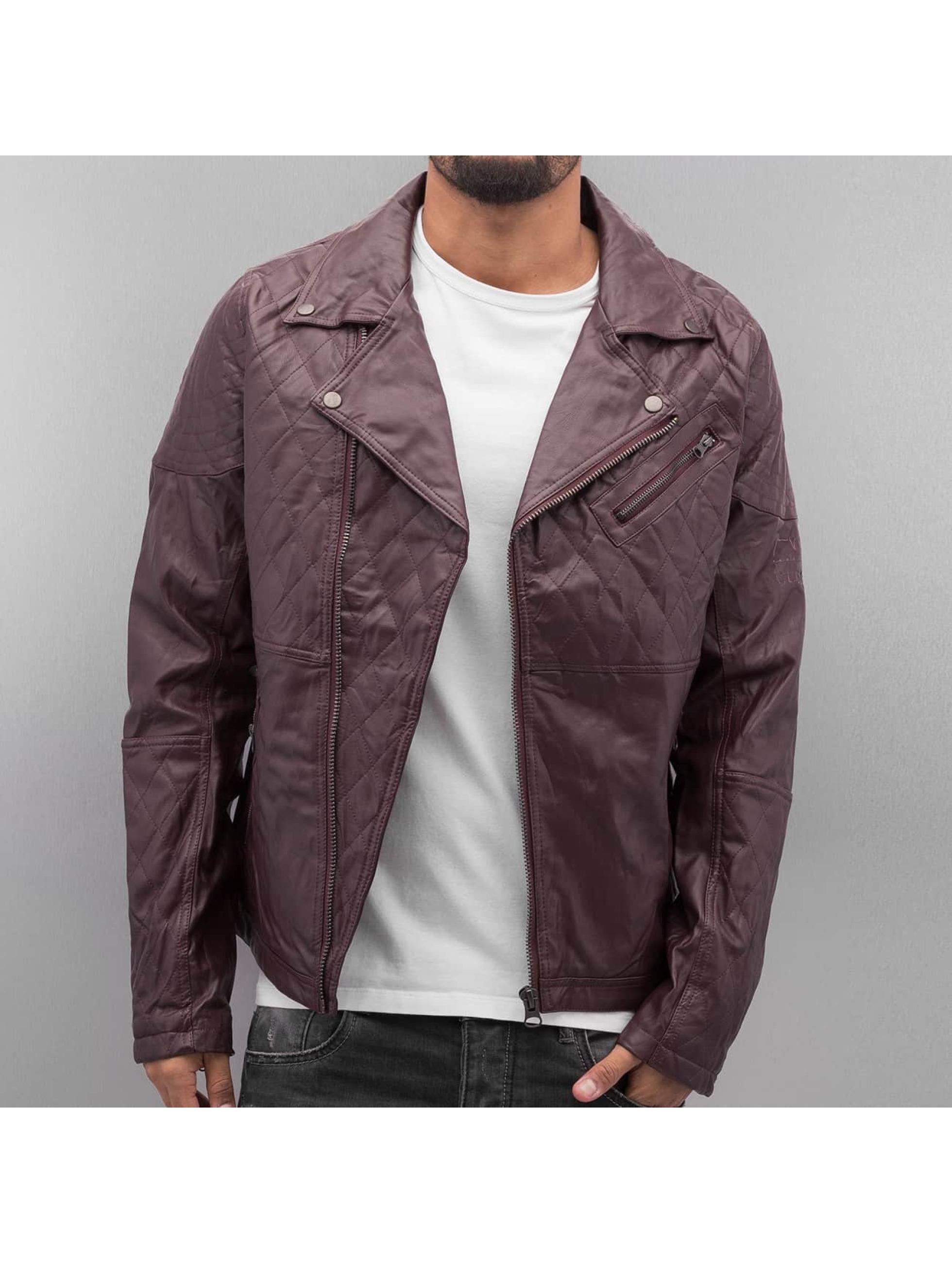 VSCT Clubwear Männer Lederjacke Biker Leather in rot