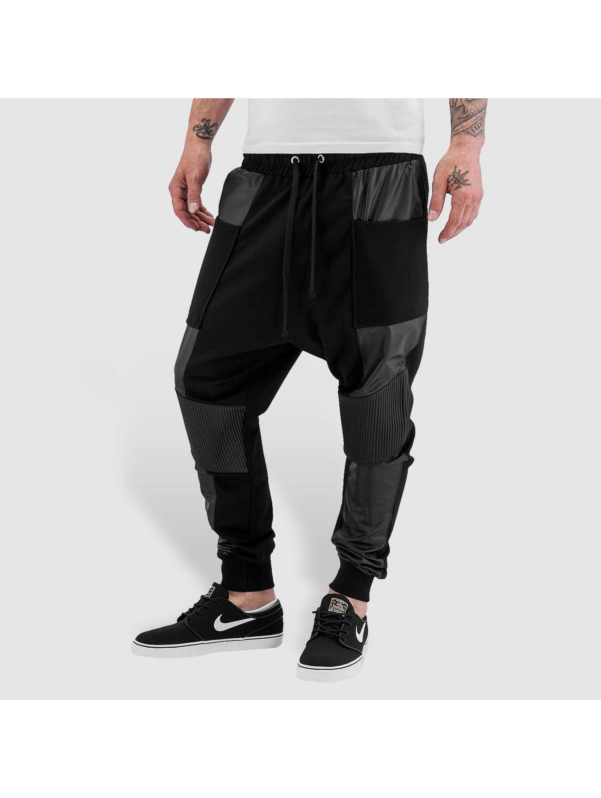Bangastic Männer Jogginghose PU in schwarz