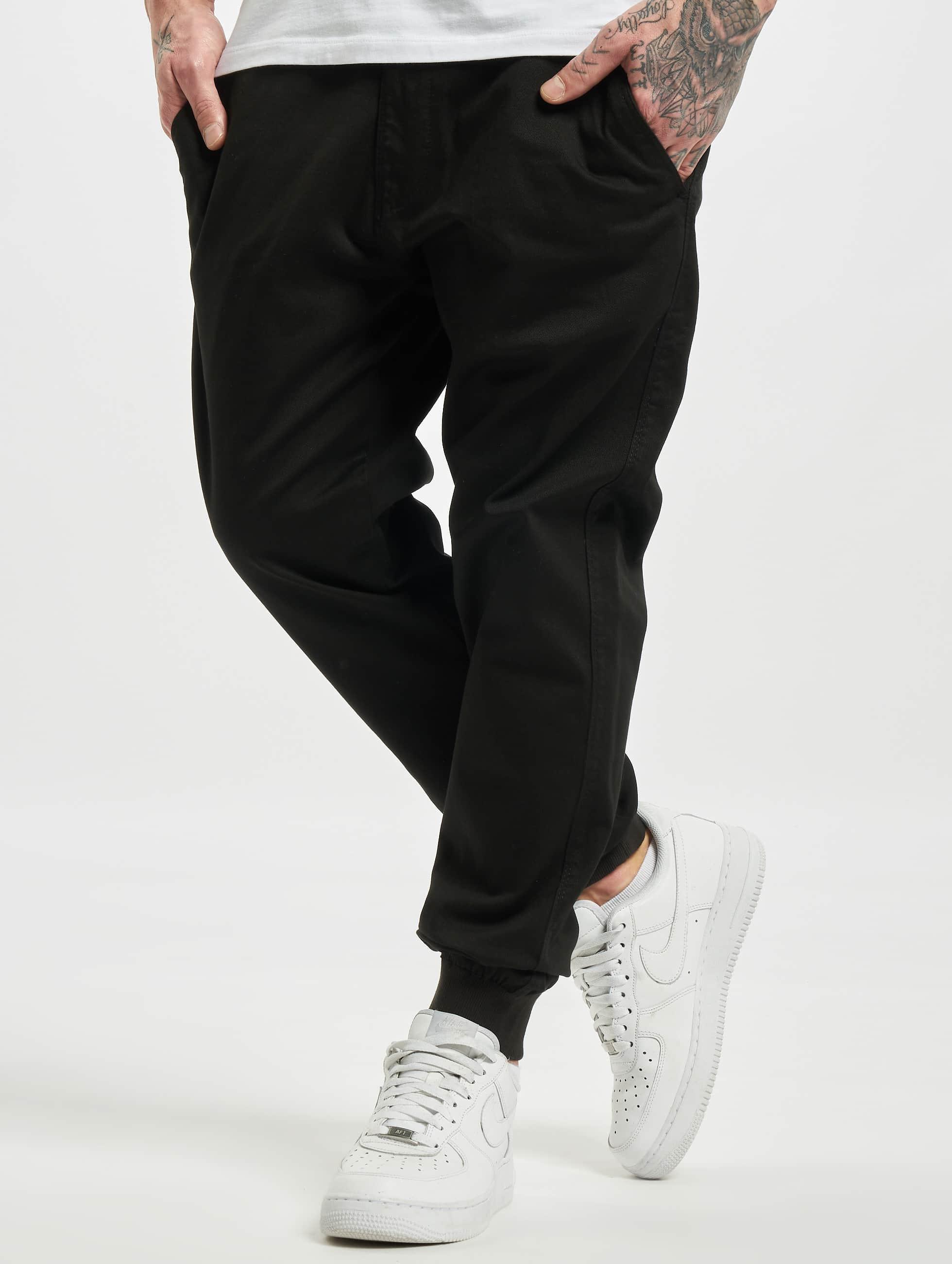 Reell Jeans Männer Jogginghose Reflex Rib in schwarz
