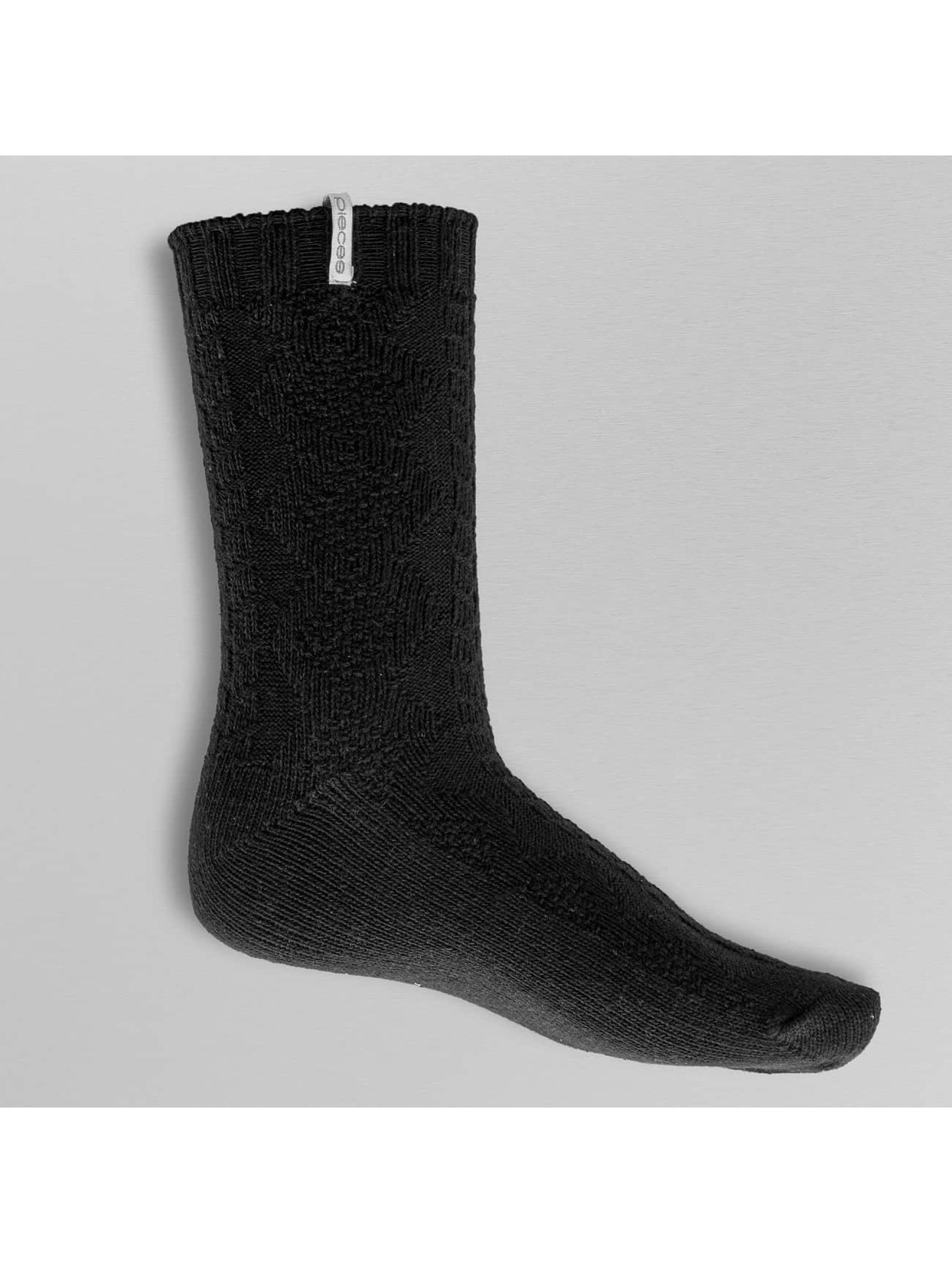 Pieces Frauen Socken pcVini in schwarz