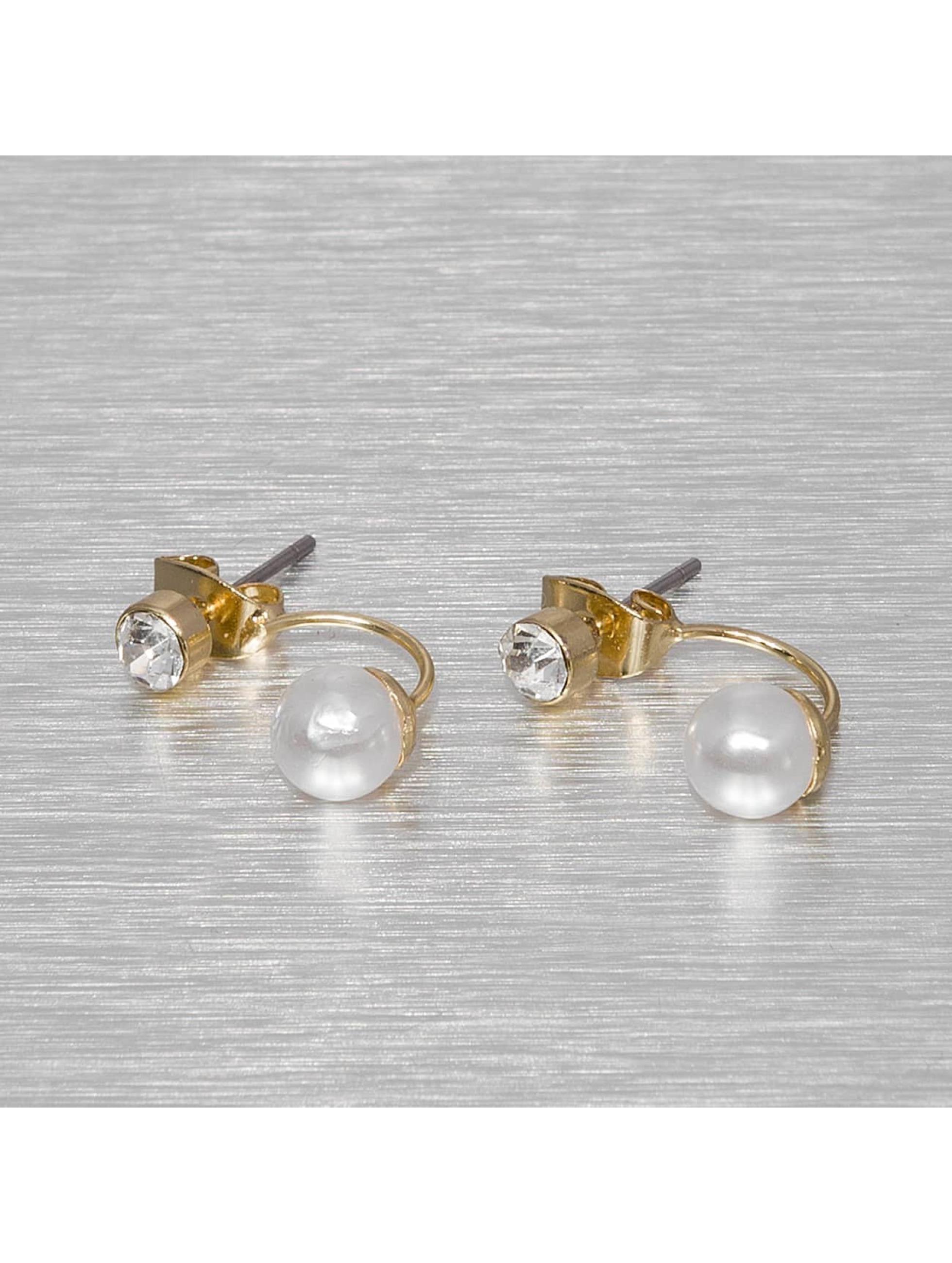 Pieces Frauen Ohrringe pcValentina in goldfarben