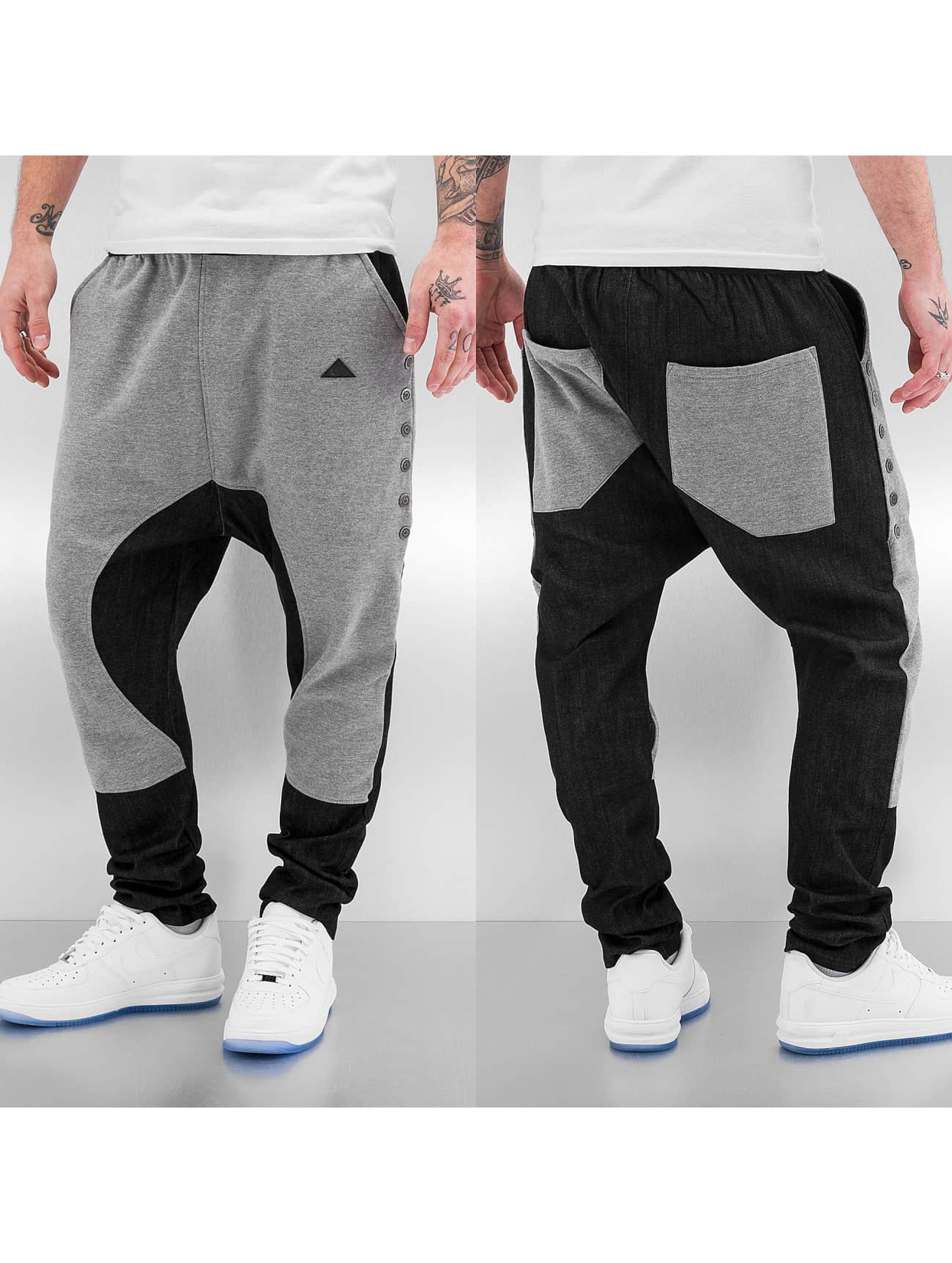 Bangastic Männer Jogginghose Button in grau