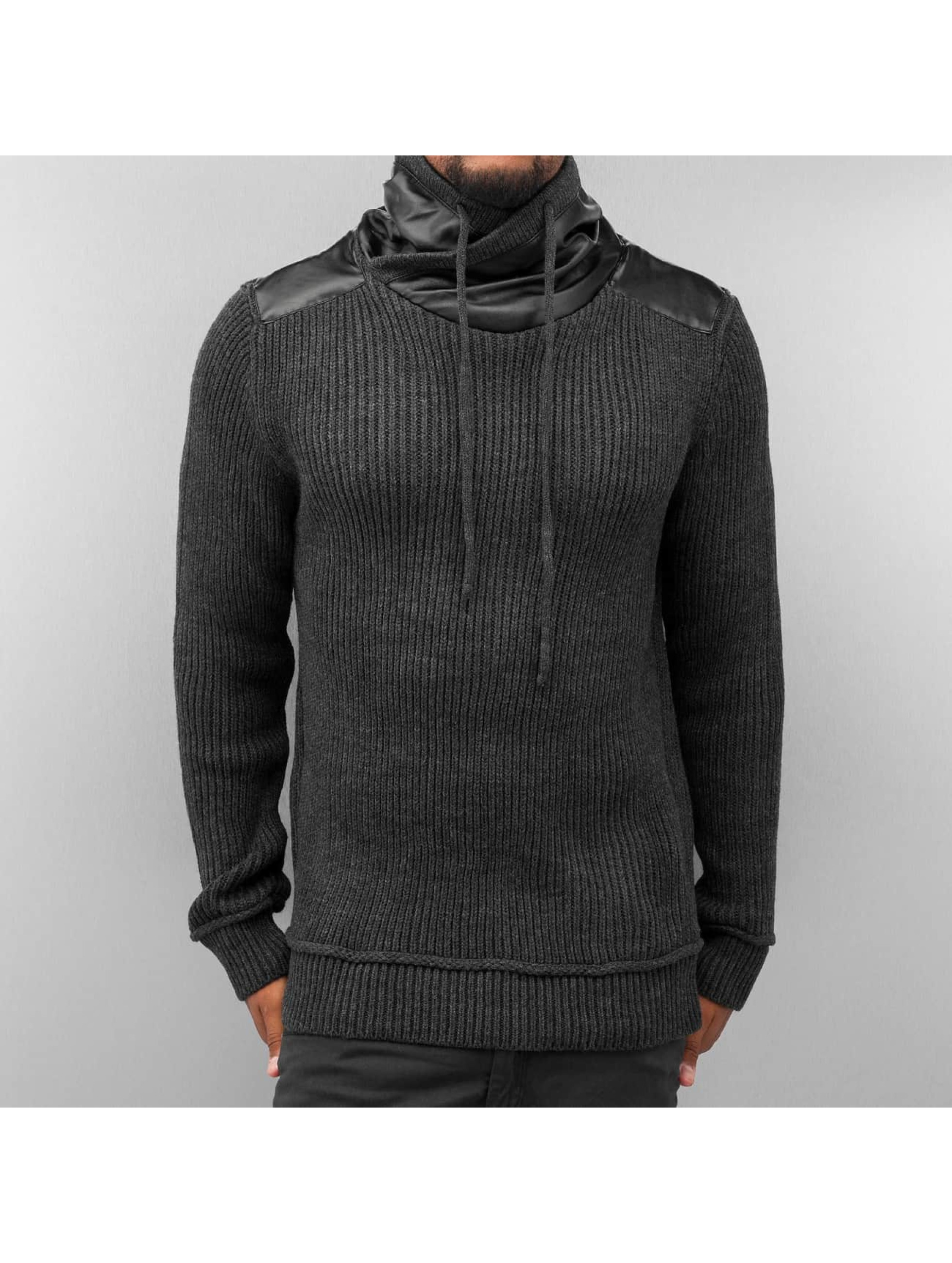 Bangastic Männer Pullover Knitted in grau Sale Angebote