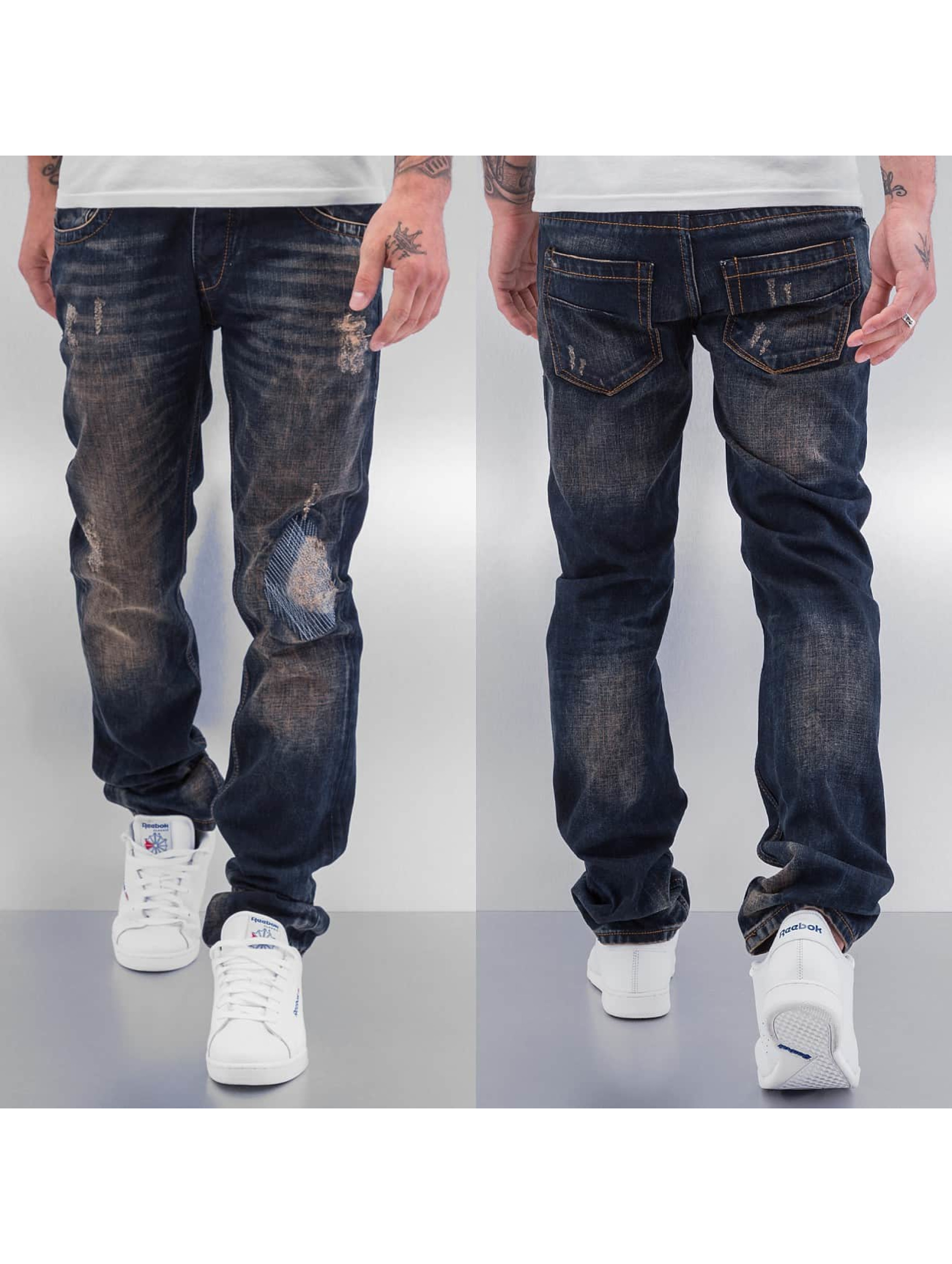 Cazzy Clang Shattered Straight Fit Jeans Blue Sale Angebote Sergen