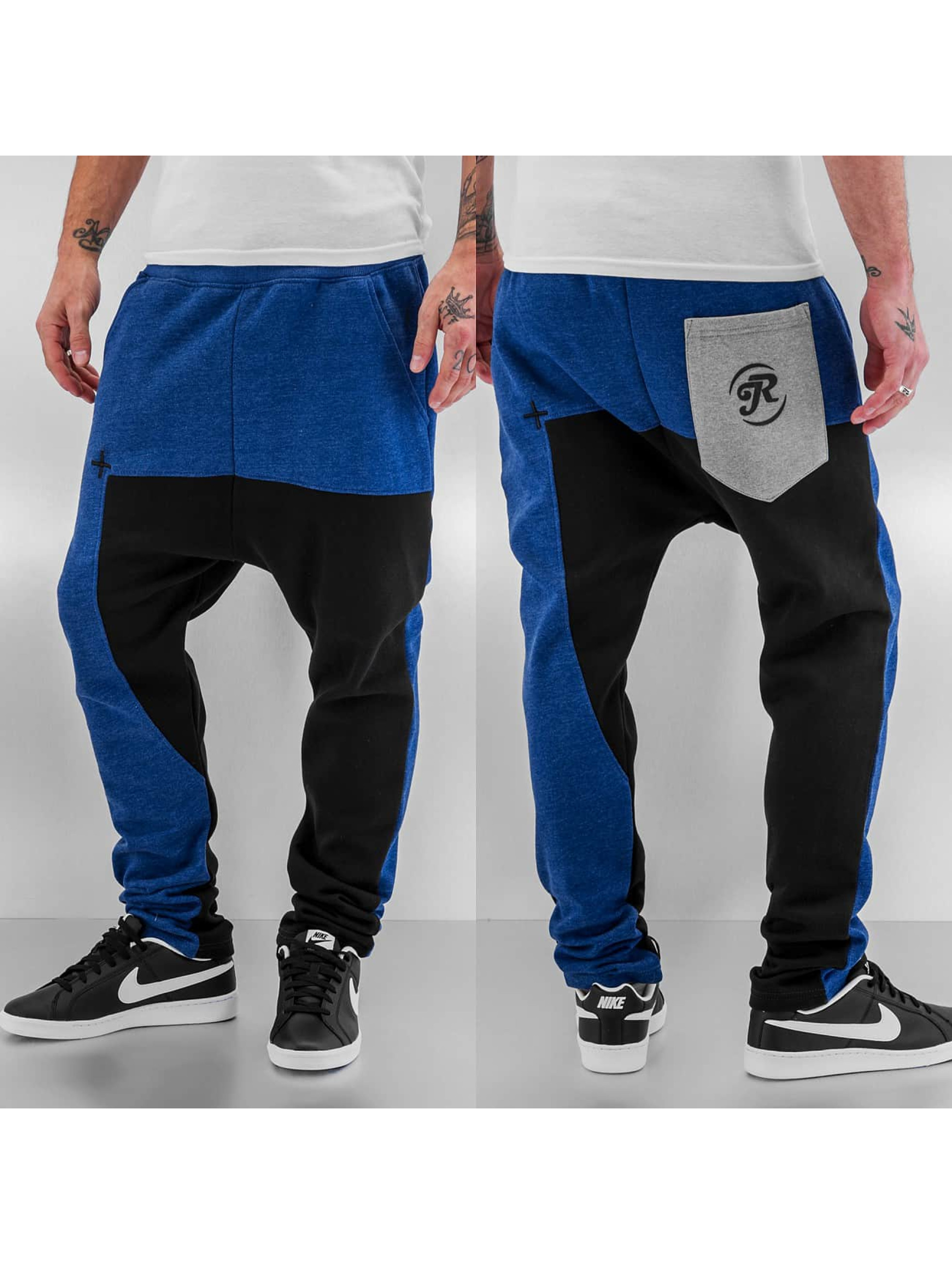 Just Rhyse Männer Jogginghose Two Tone in blau