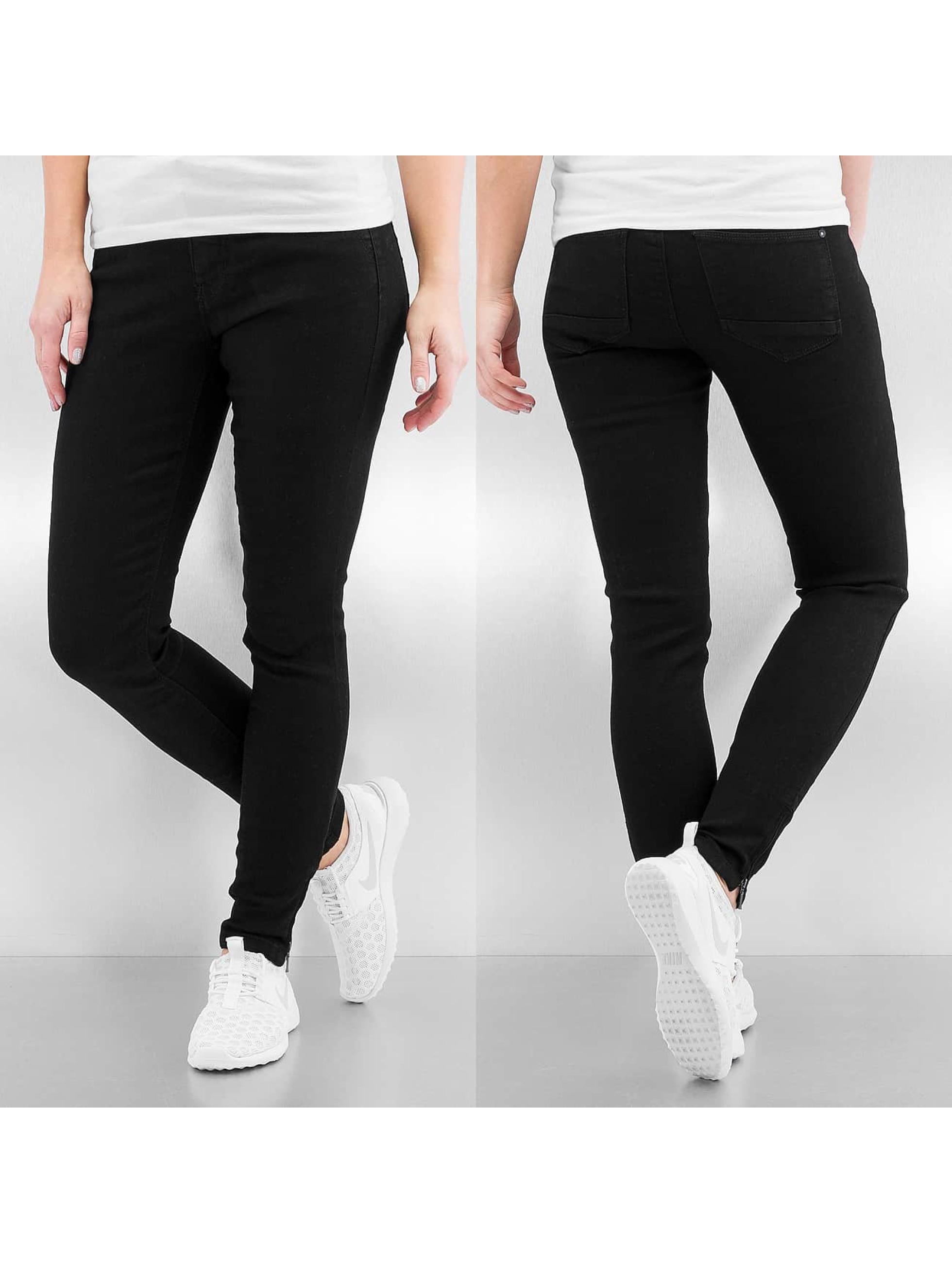 Only Frauen Straight Fit Jeans onlKendell Regular in schwarz